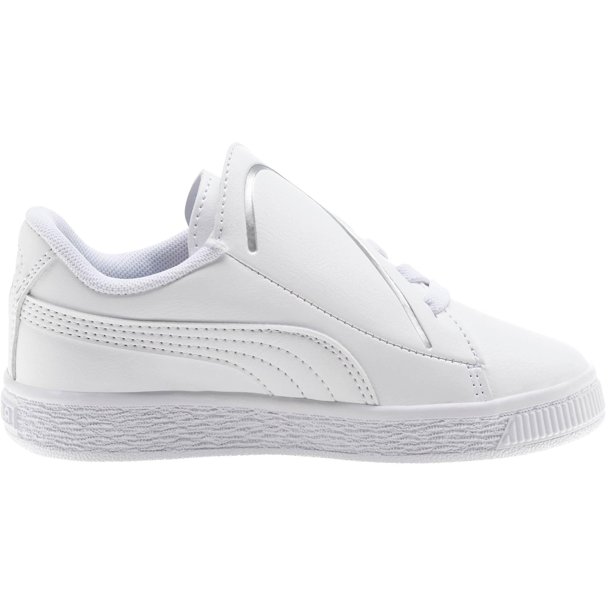 Miniatura 4 de Zapatos Basket Crush AC para niños, Puma White-Puma Silver, mediano