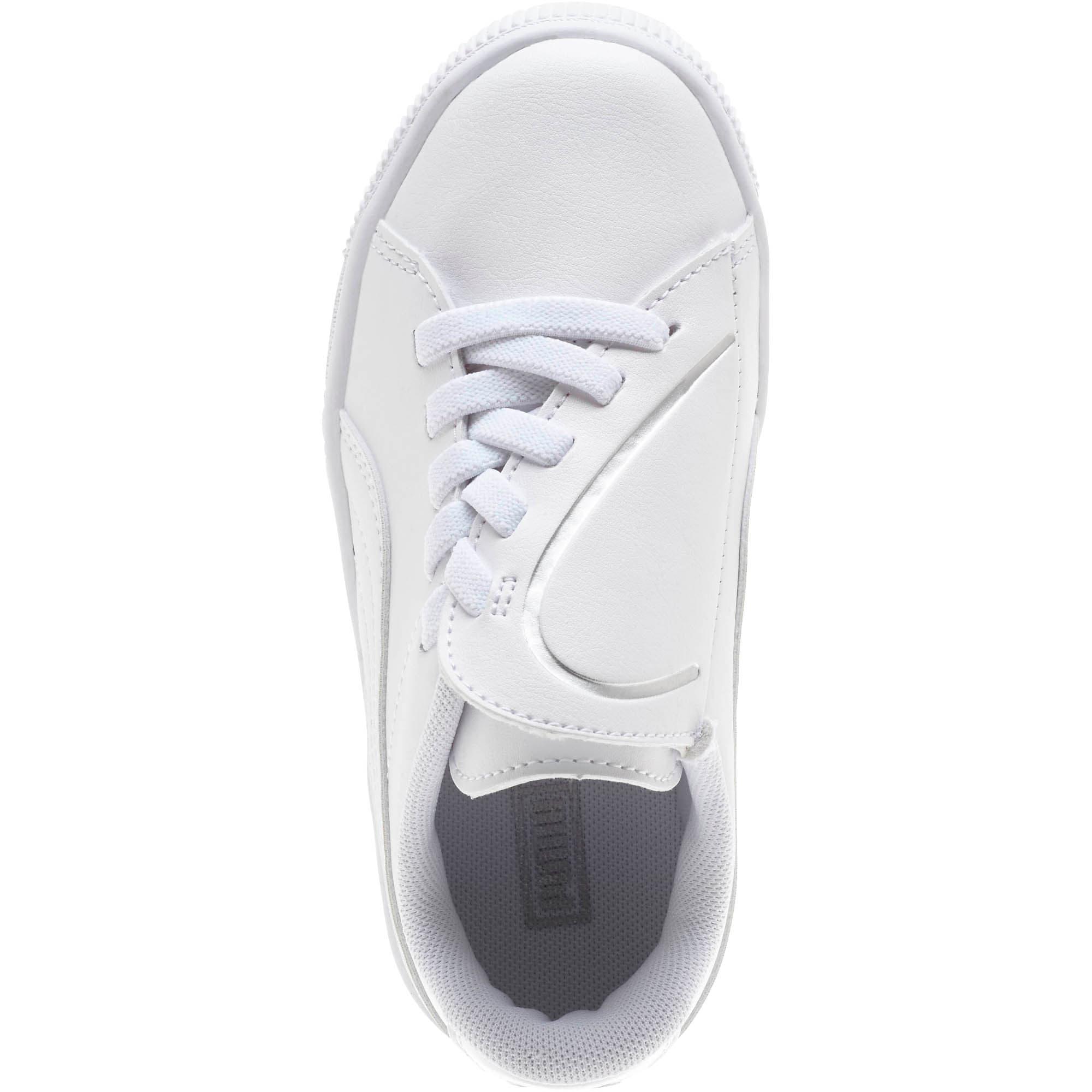 Miniatura 5 de Zapatos Basket Crush AC para niños, Puma White-Puma Silver, mediano