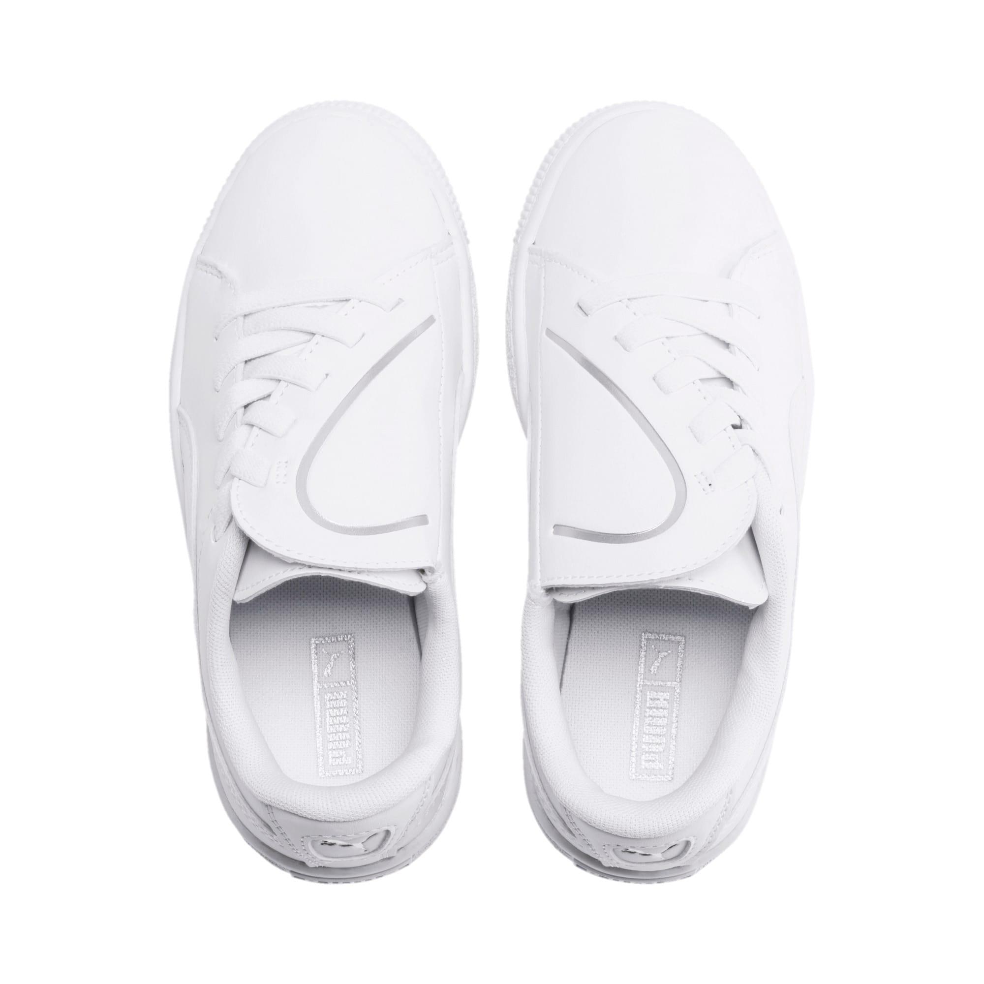 Miniatura 6 de Zapatos Basket Crush AC para niños, Puma White-Puma Silver, mediano