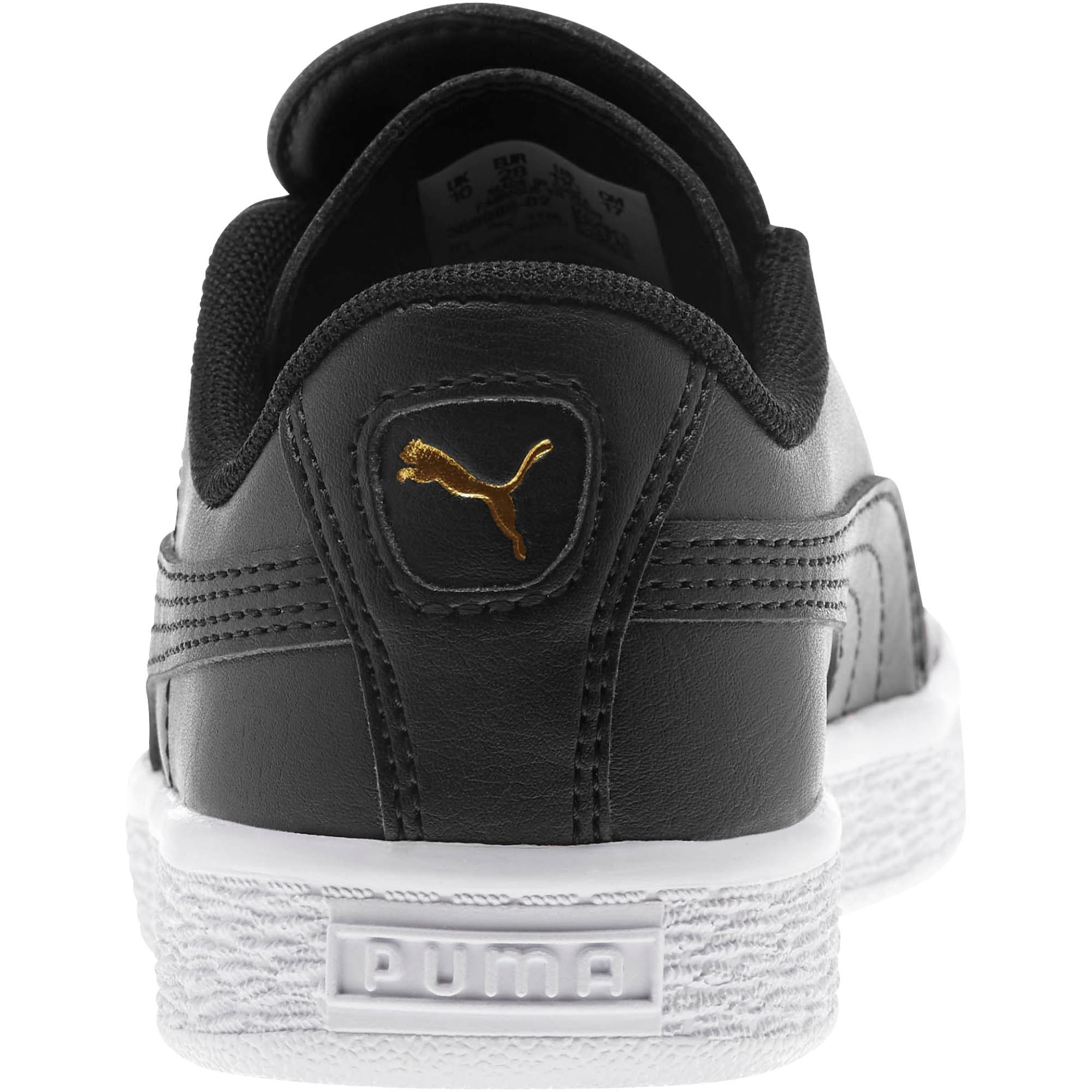 Miniatura 3 de Zapatos Basket Crush AC para niños, Puma Black-Puma Team Gold, mediano