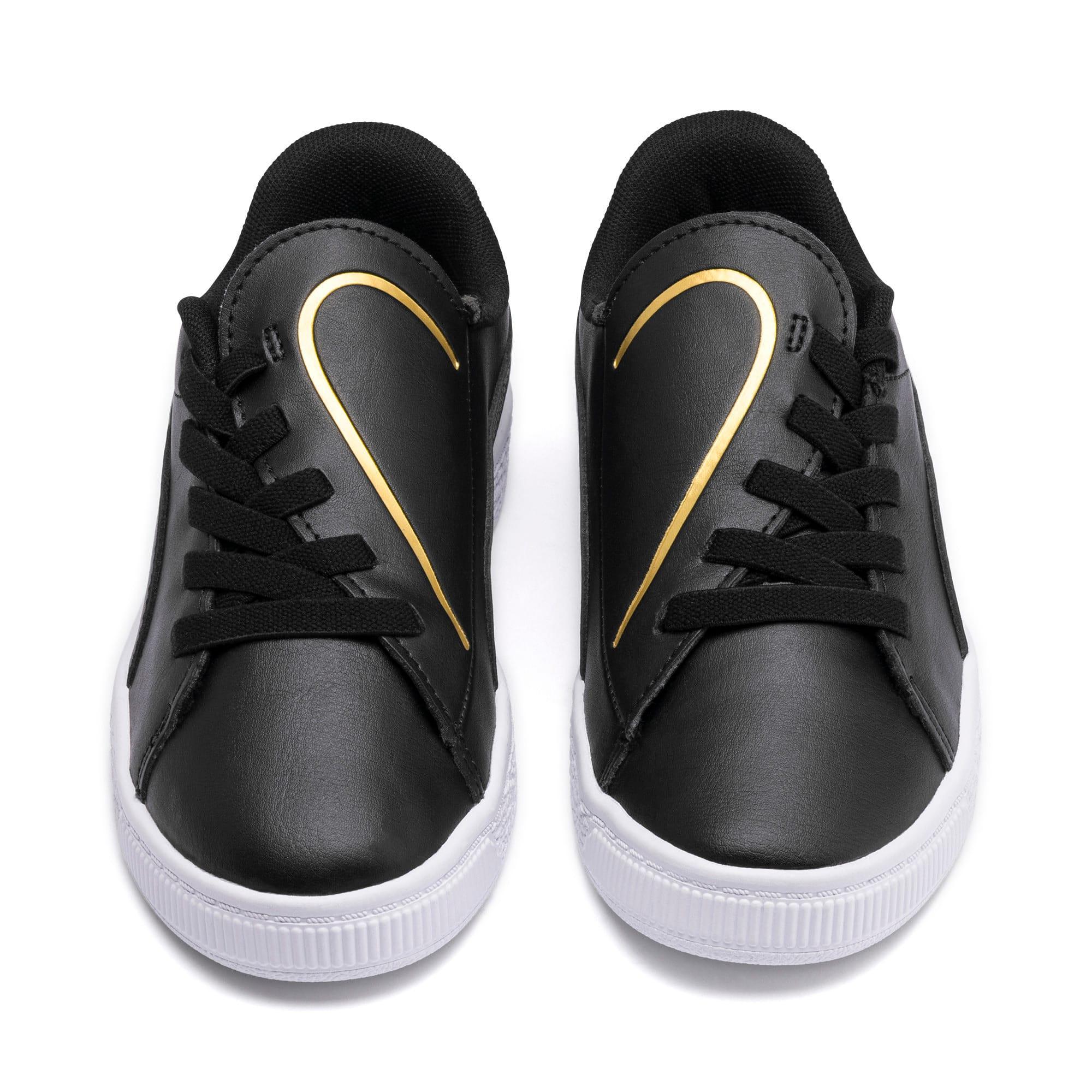 Miniatura 7 de Zapatos Basket Crush AC para niños, Puma Black-Puma Team Gold, mediano