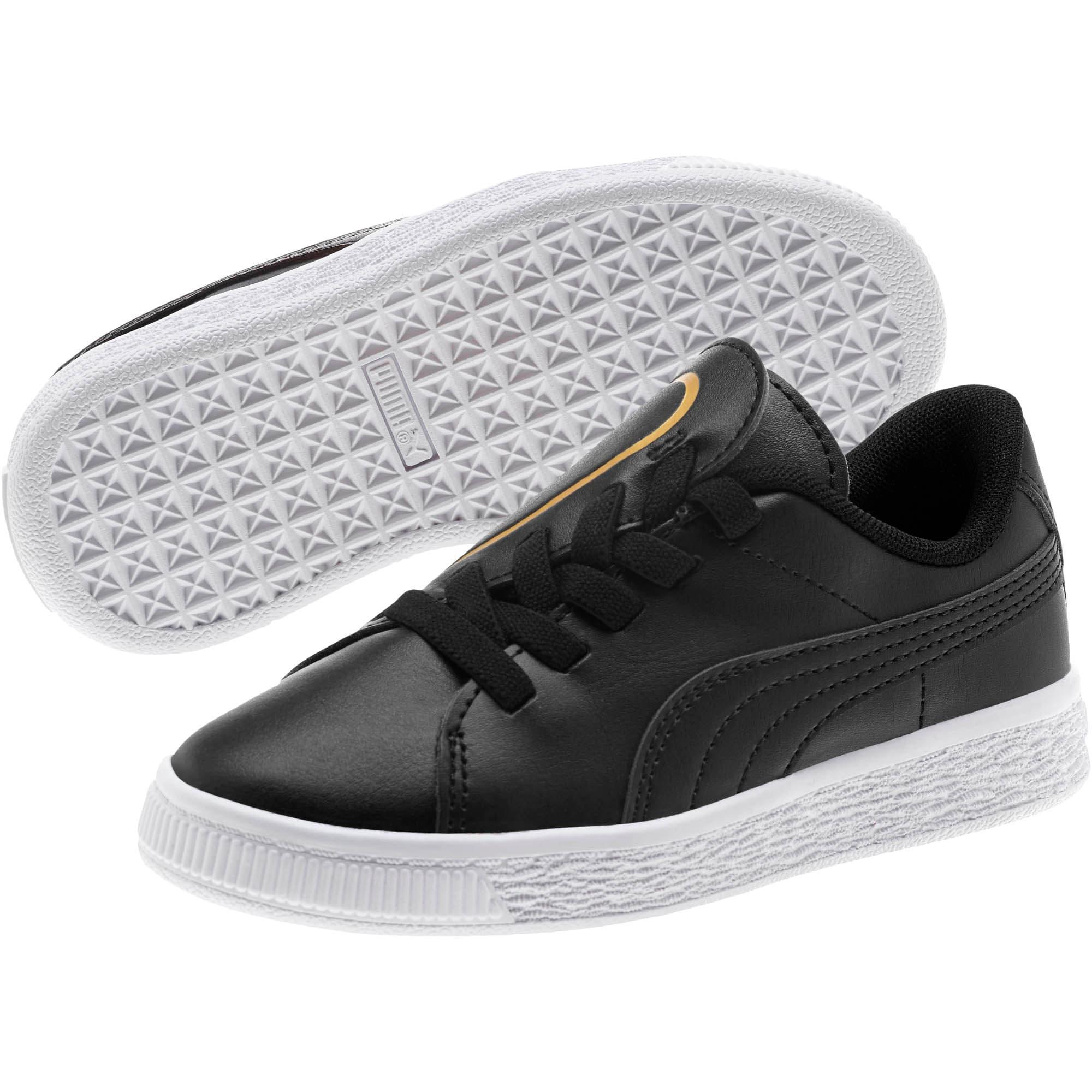 Miniatura 2 de Zapatos Basket Crush AC para niños, Puma Black-Puma Team Gold, mediano