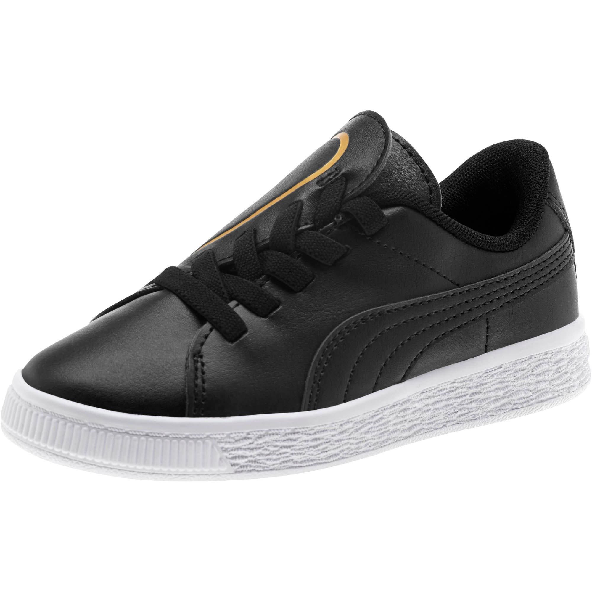 Miniatura 1 de Zapatos Basket Crush AC para niños, Puma Black-Puma Team Gold, mediano