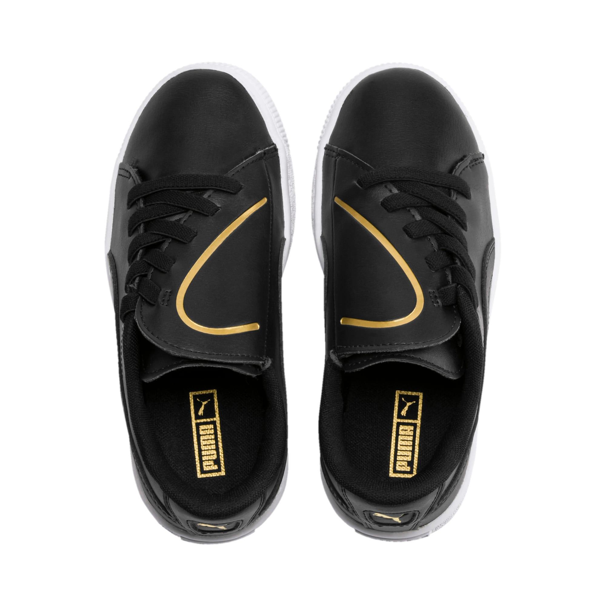 Miniatura 6 de Zapatos Basket Crush AC para niños, Puma Black-Puma Team Gold, mediano