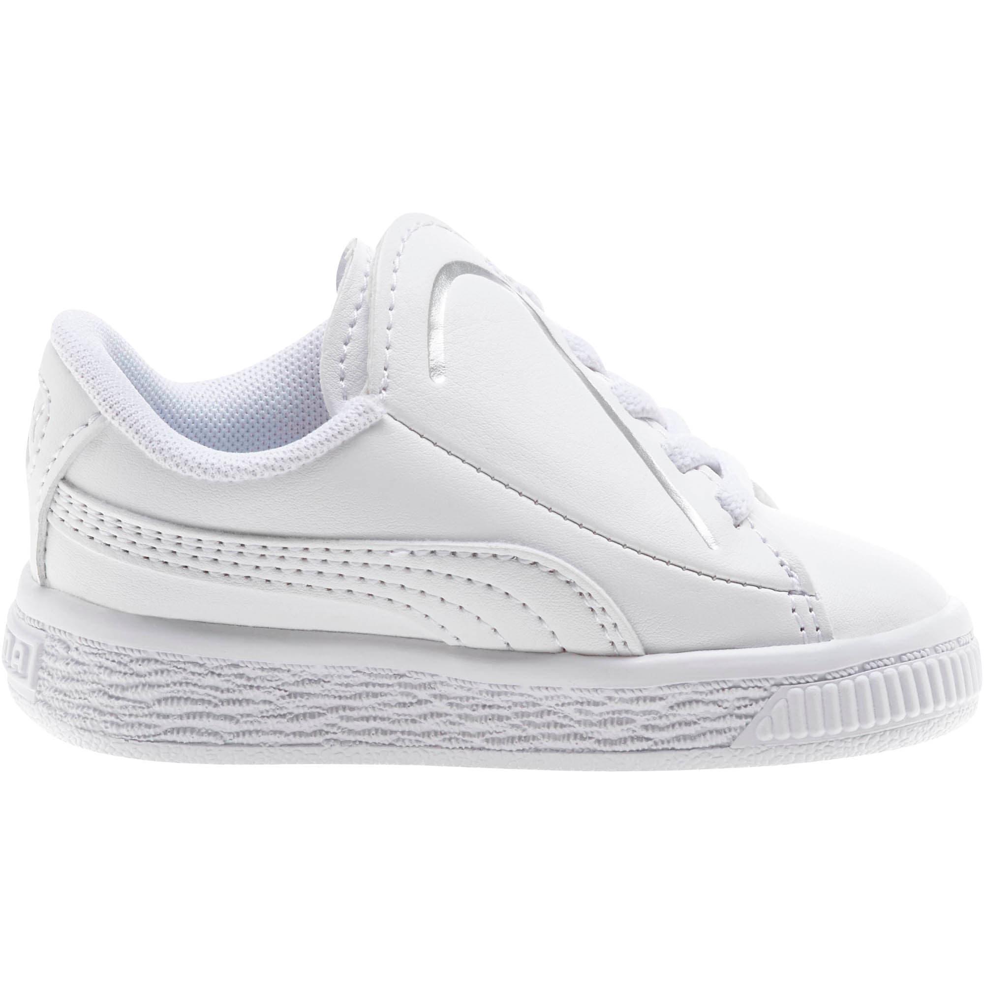 Miniatura 4 de Zapatos Basket Crush AC para bebés, Puma White-Puma Silver, mediano