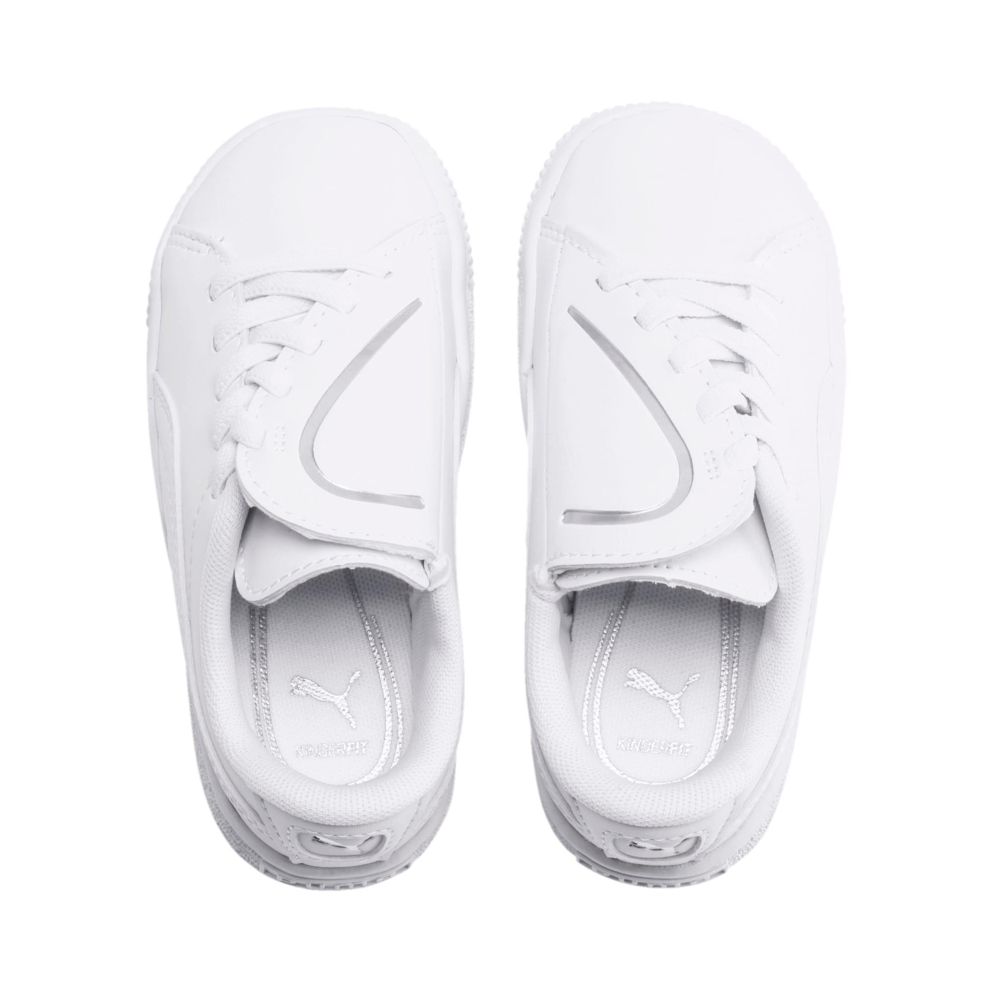 Miniatura 6 de Zapatos Basket Crush AC para bebés, Puma White-Puma Silver, mediano