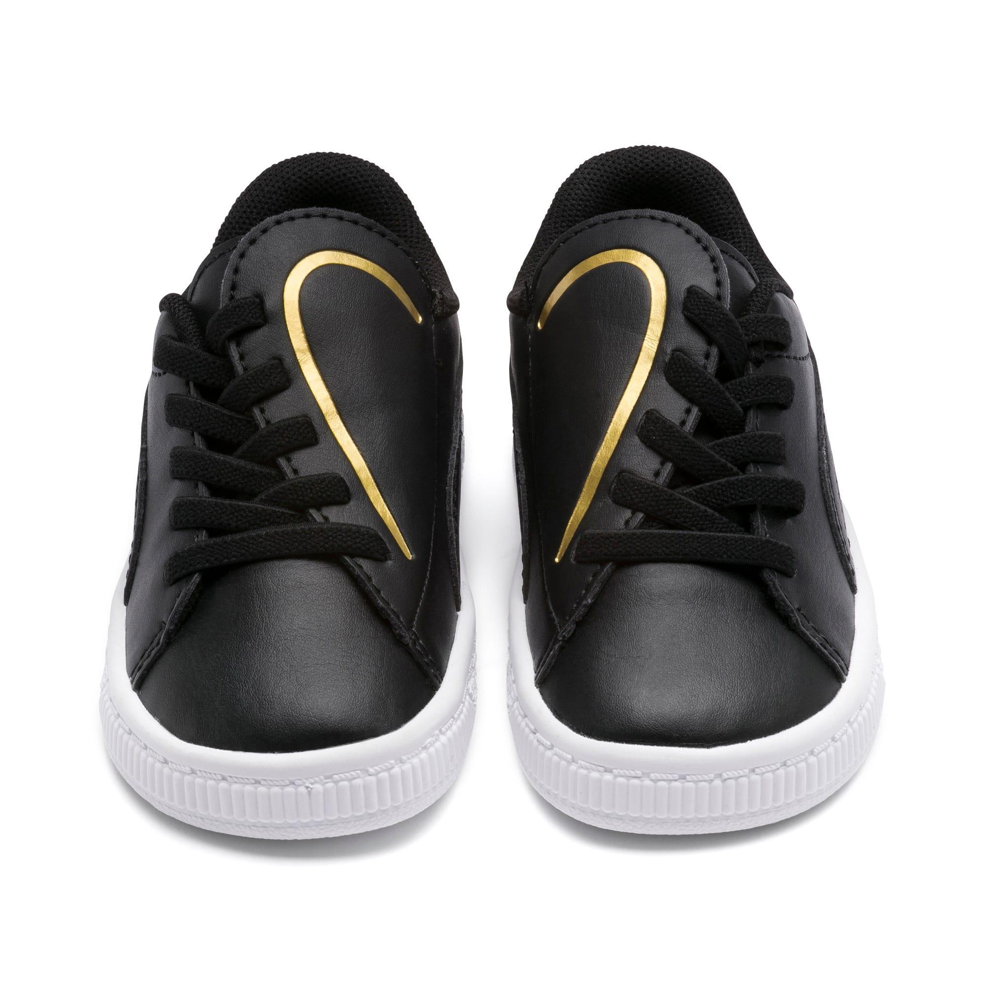 Miniatura 7 de Zapatos Basket Crush AC para bebés, Puma Black-Puma Team Gold, mediano