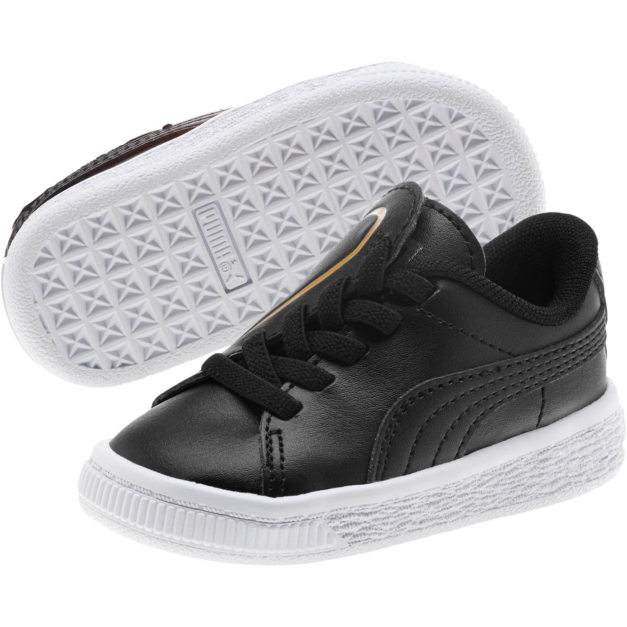 Miniatura 2 de Zapatos Basket Crush AC para bebés, Puma Black-Puma Team Gold, mediano
