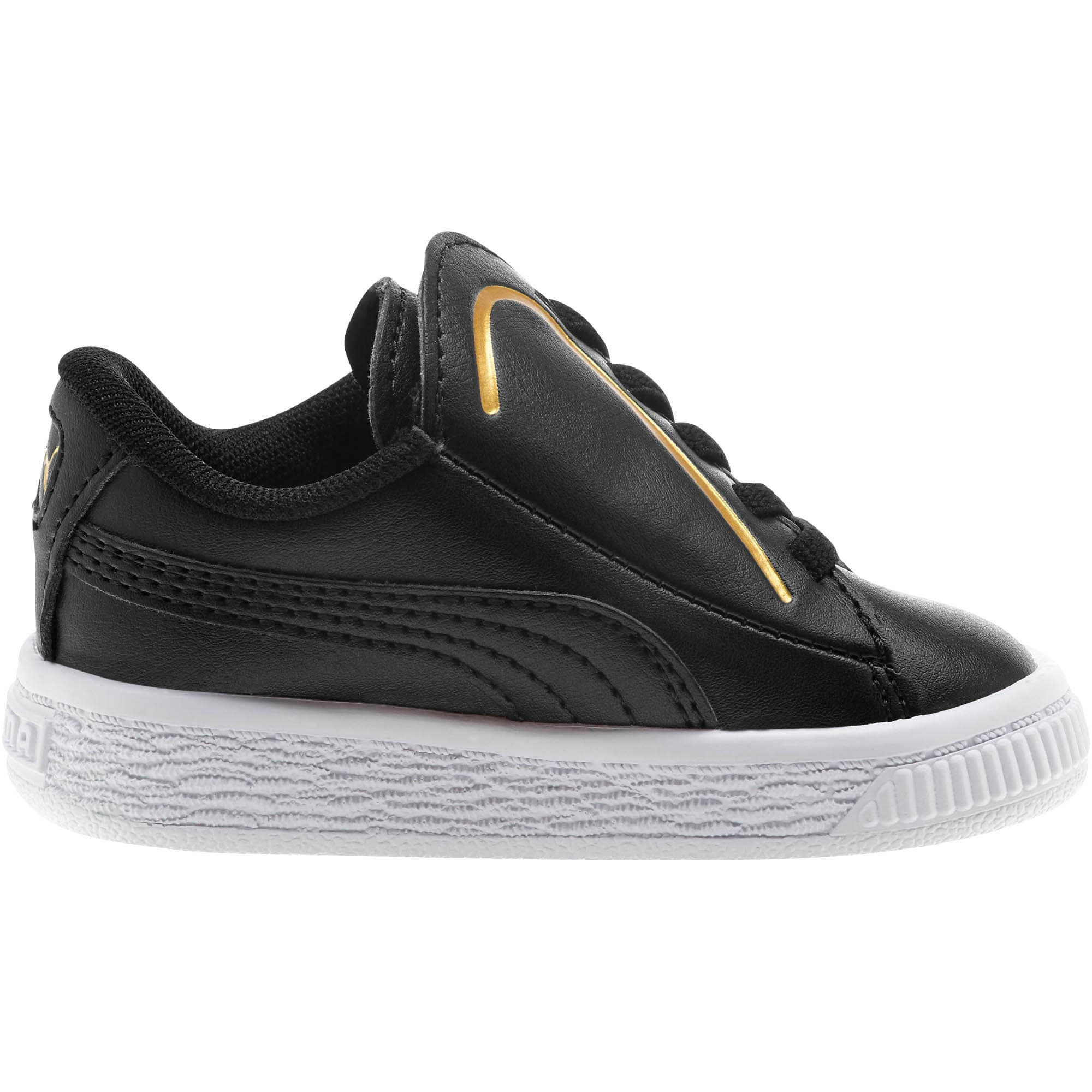 Miniatura 4 de Zapatos Basket Crush AC para bebés, Puma Black-Puma Team Gold, mediano
