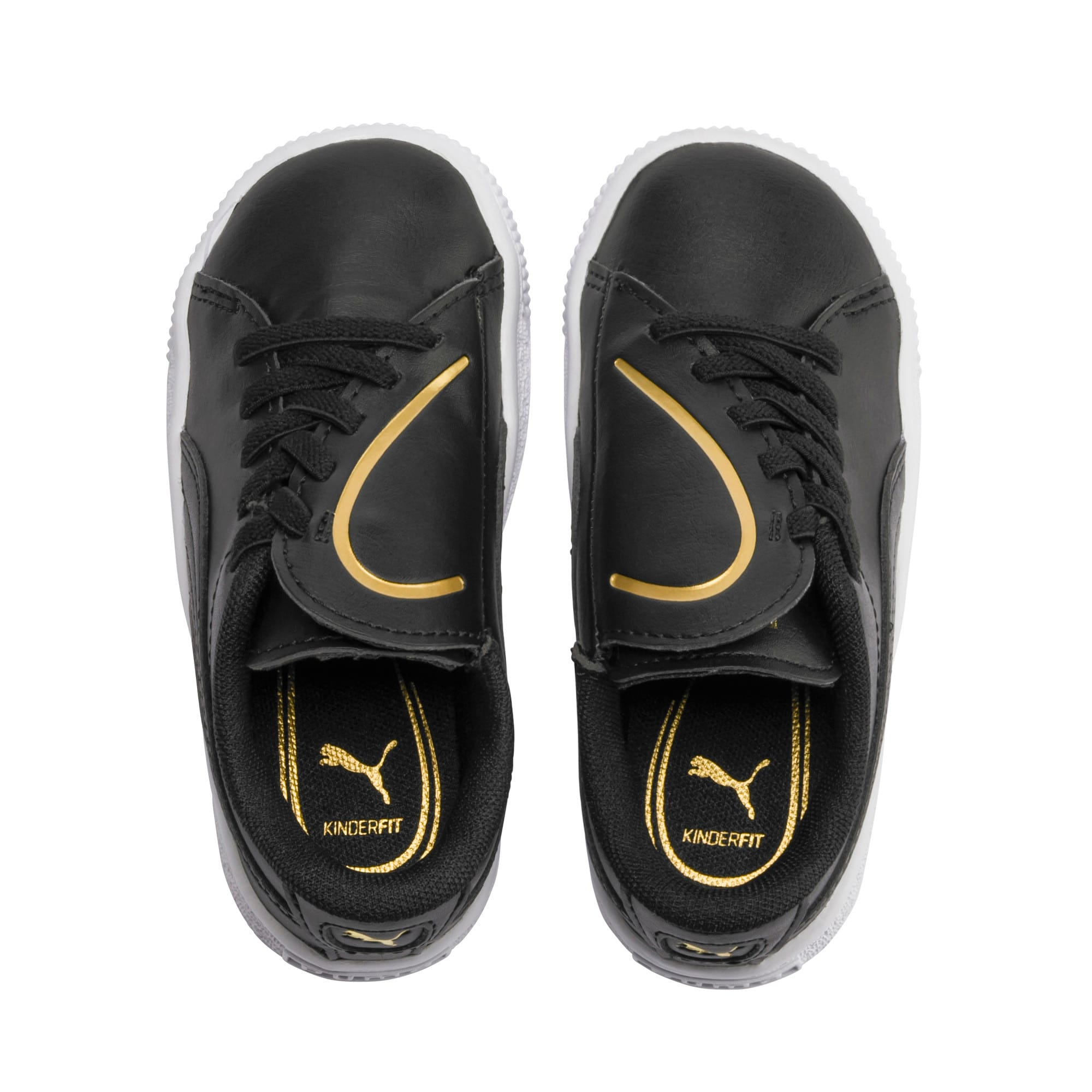 Miniatura 6 de Zapatos Basket Crush AC para bebés, Puma Black-Puma Team Gold, mediano