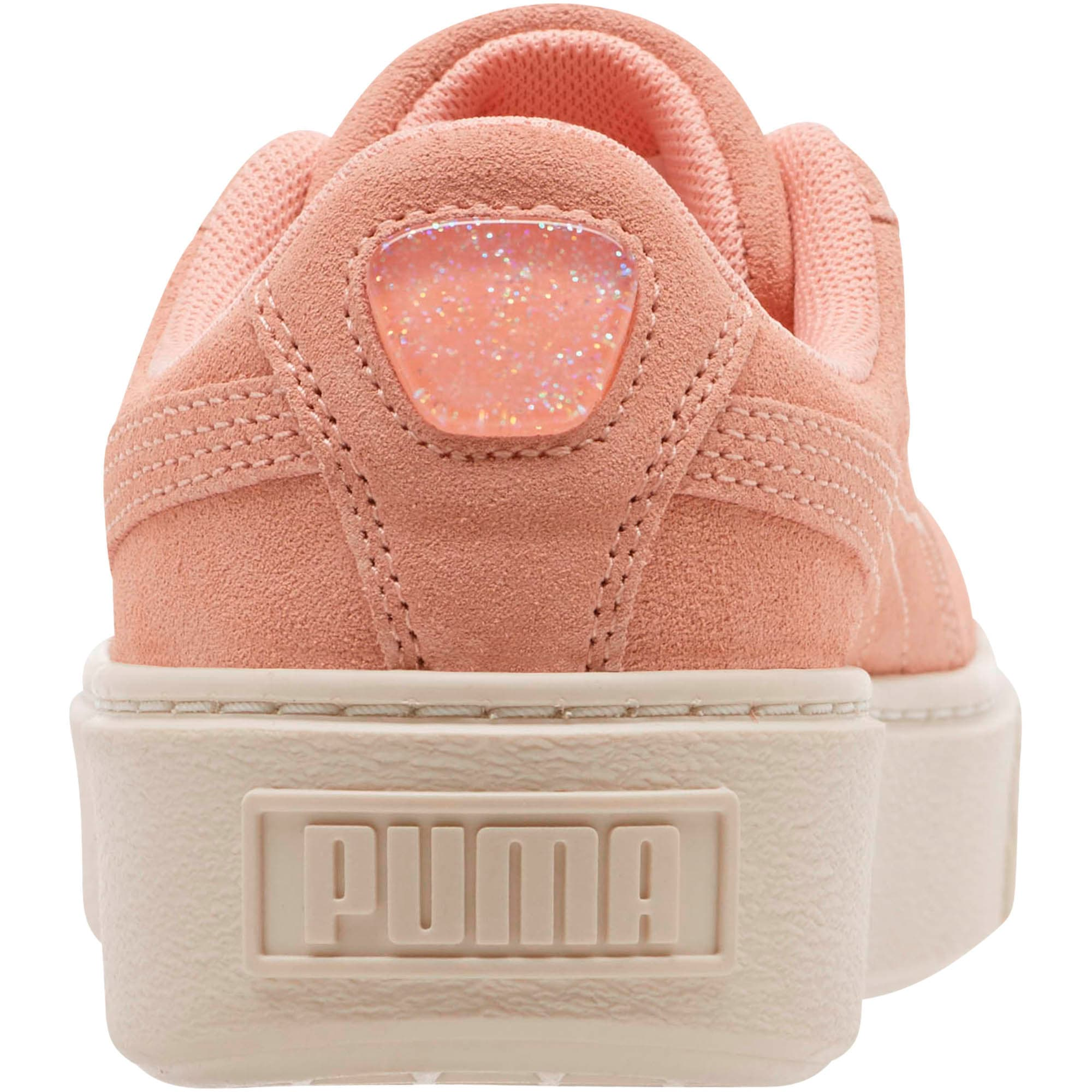 Zapatos deportivos Suede Super Jewel con plataforma para junior, Peach Bud-Whisper White, grande