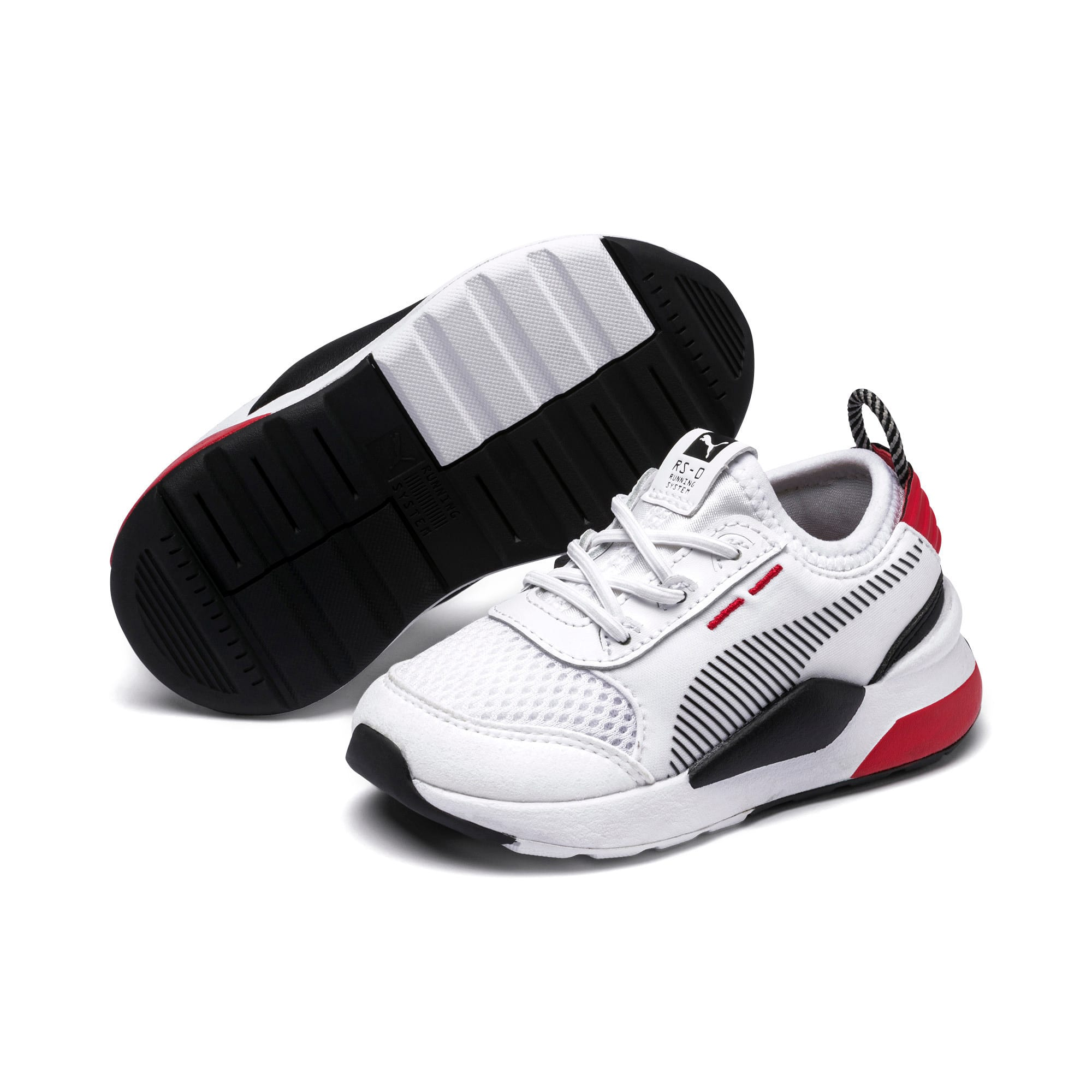 Thumbnail 2 of RS-0 Winter Inj Toys INF Shoes, Puma White-High Risk Red, medium