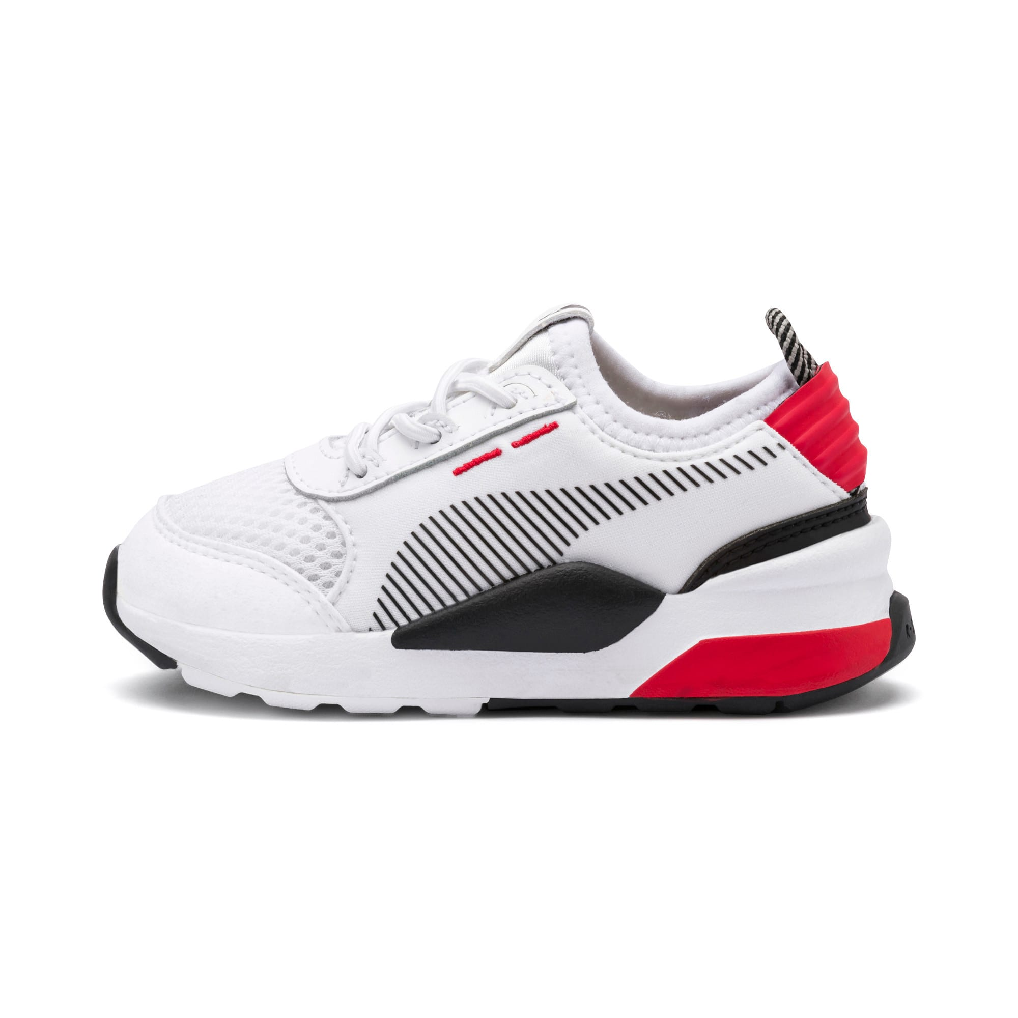 Thumbnail 1 of RS-0 Winter Inj Toys INF Shoes, Puma White-High Risk Red, medium
