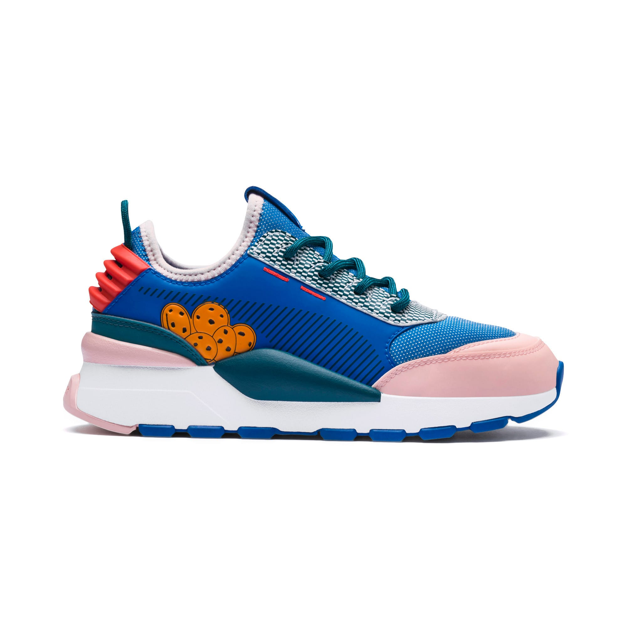 Thumbnail 7 of Sesame Street 50 RS-0 Youth Trainers, Veiled Rose-Indigo-BlueCoral, medium