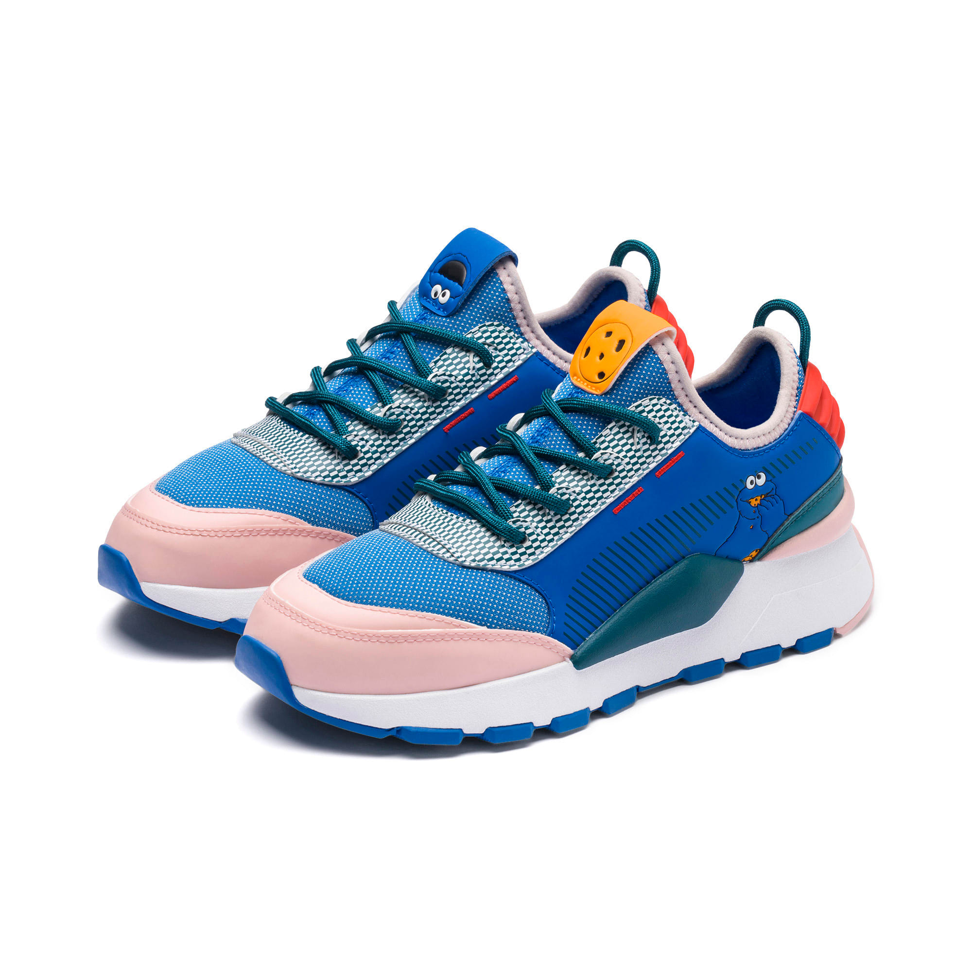 Thumbnail 2 of Sesame Street 50 RS-0 Youth Trainers, Veiled Rose-Indigo-BlueCoral, medium