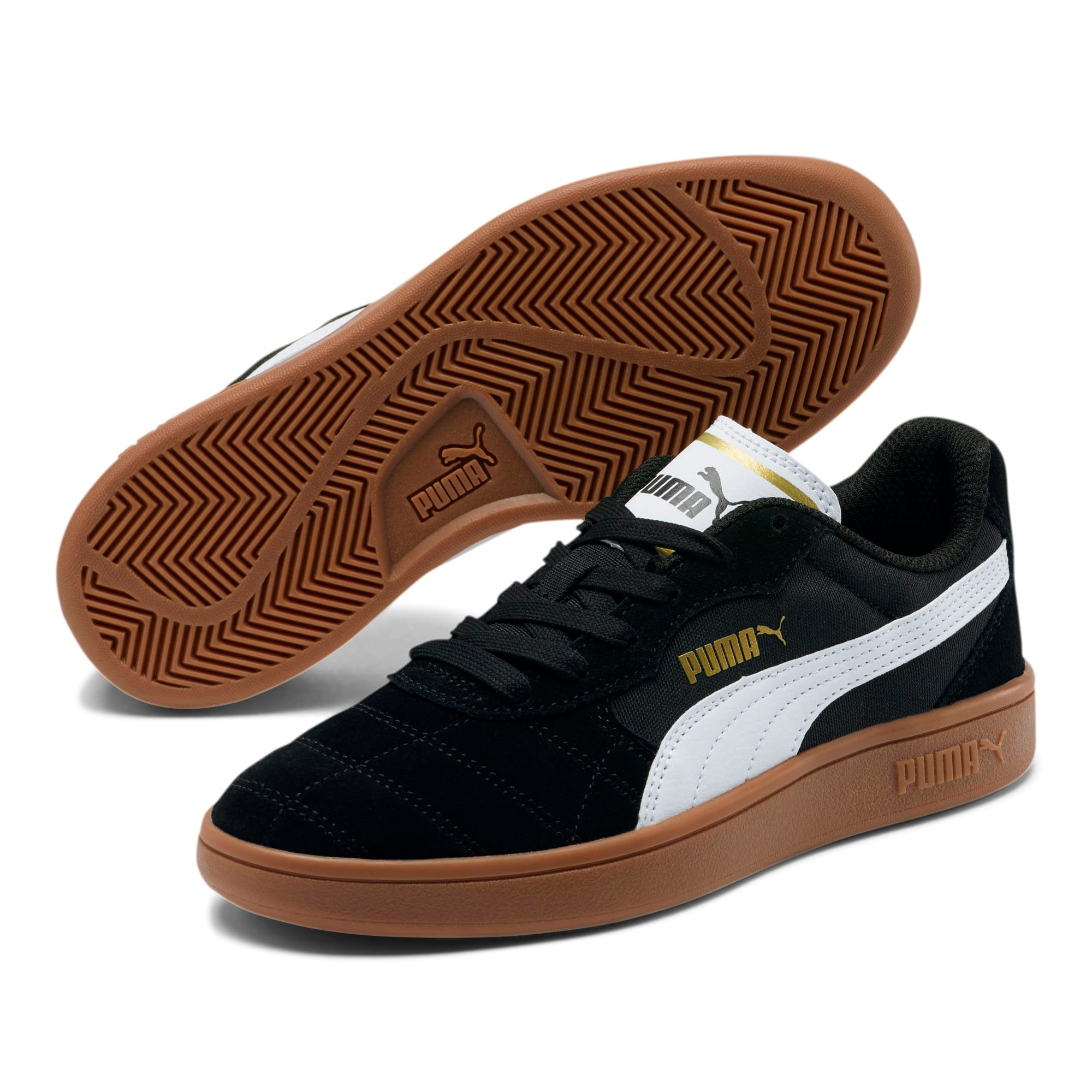 Thumbnail 2 of Astro Kick Sneakers JR, Puma Black-Puma White-Gold, medium