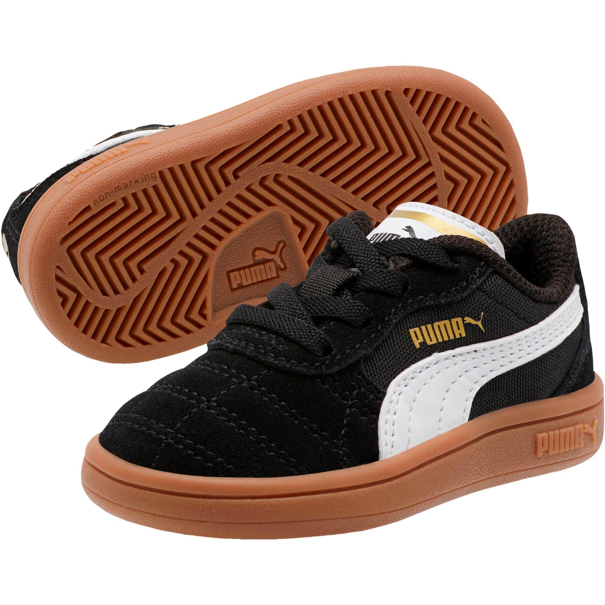 Miniatura 2 de Zapatos Astro Kick AC para bebé, Puma Black-Puma White-Gold, mediano