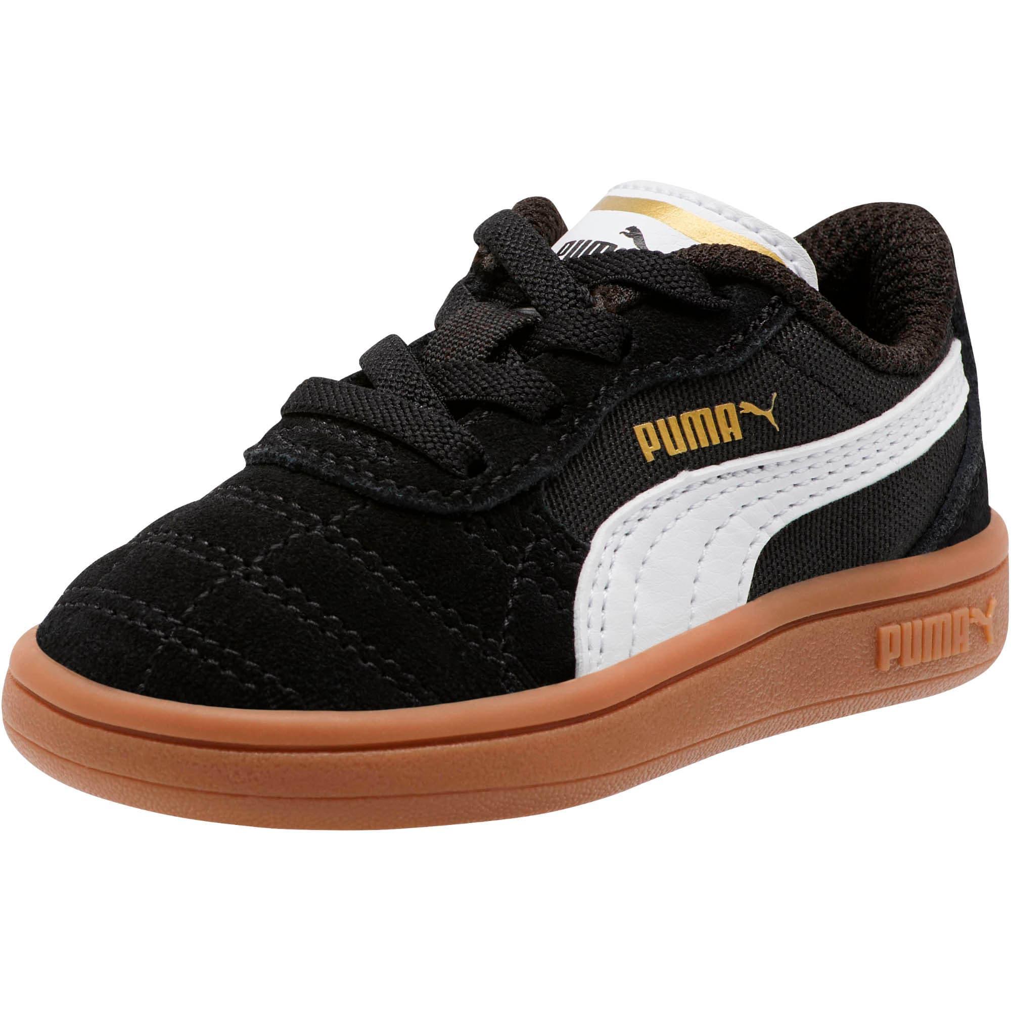 Miniatura 1 de Zapatos Astro Kick AC para bebé, Puma Black-Puma White-Gold, mediano