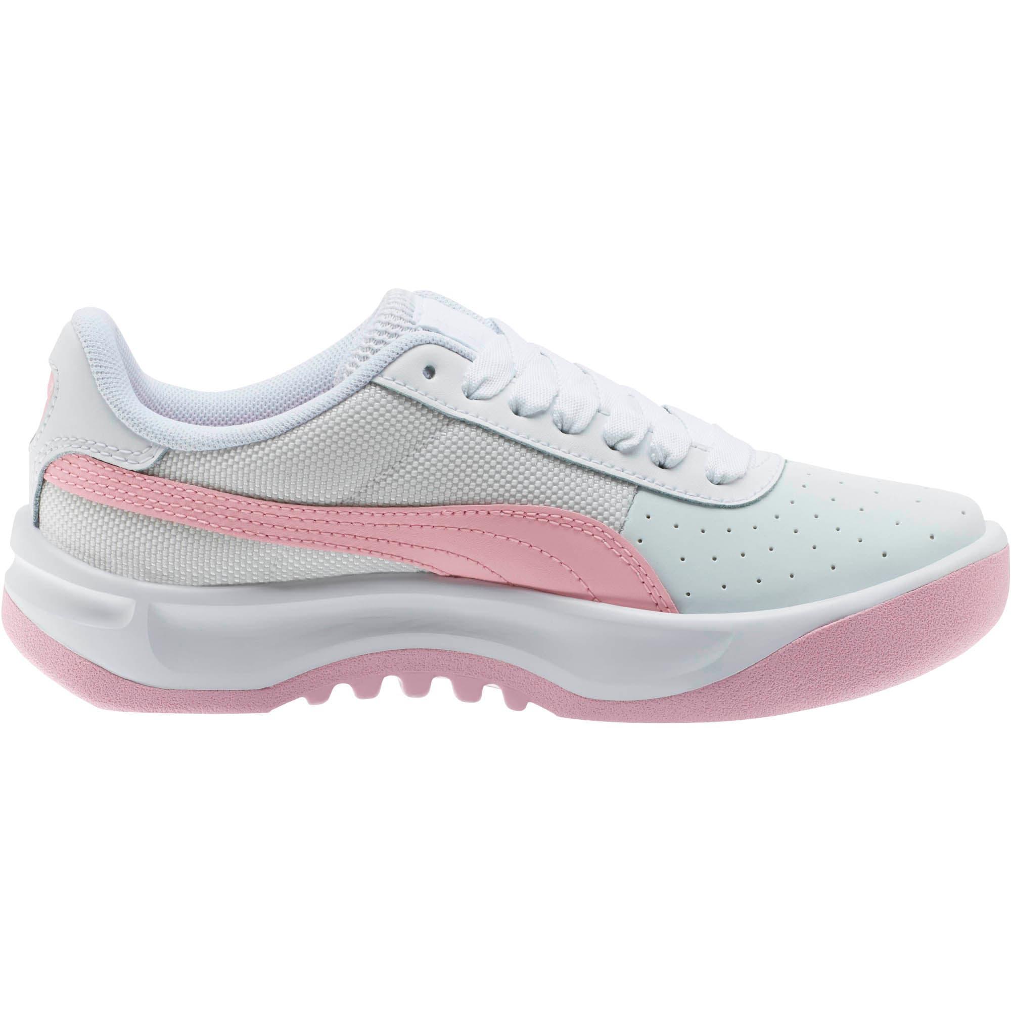 Thumbnail 4 of California Sneakers JR, Puma Wht-Pale Pink-Puma Wht, medium