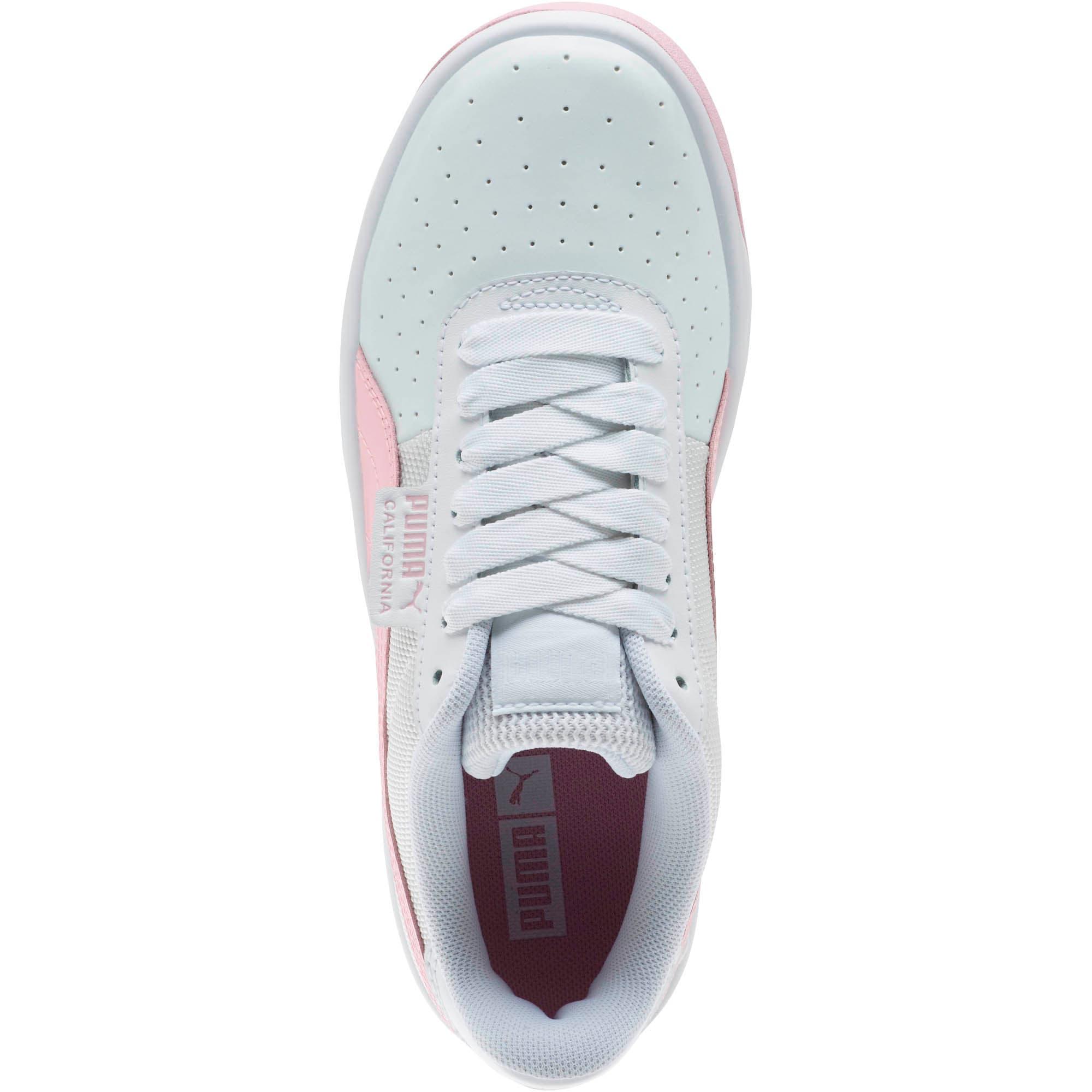 Thumbnail 5 of California Sneakers JR, Puma Wht-Pale Pink-Puma Wht, medium