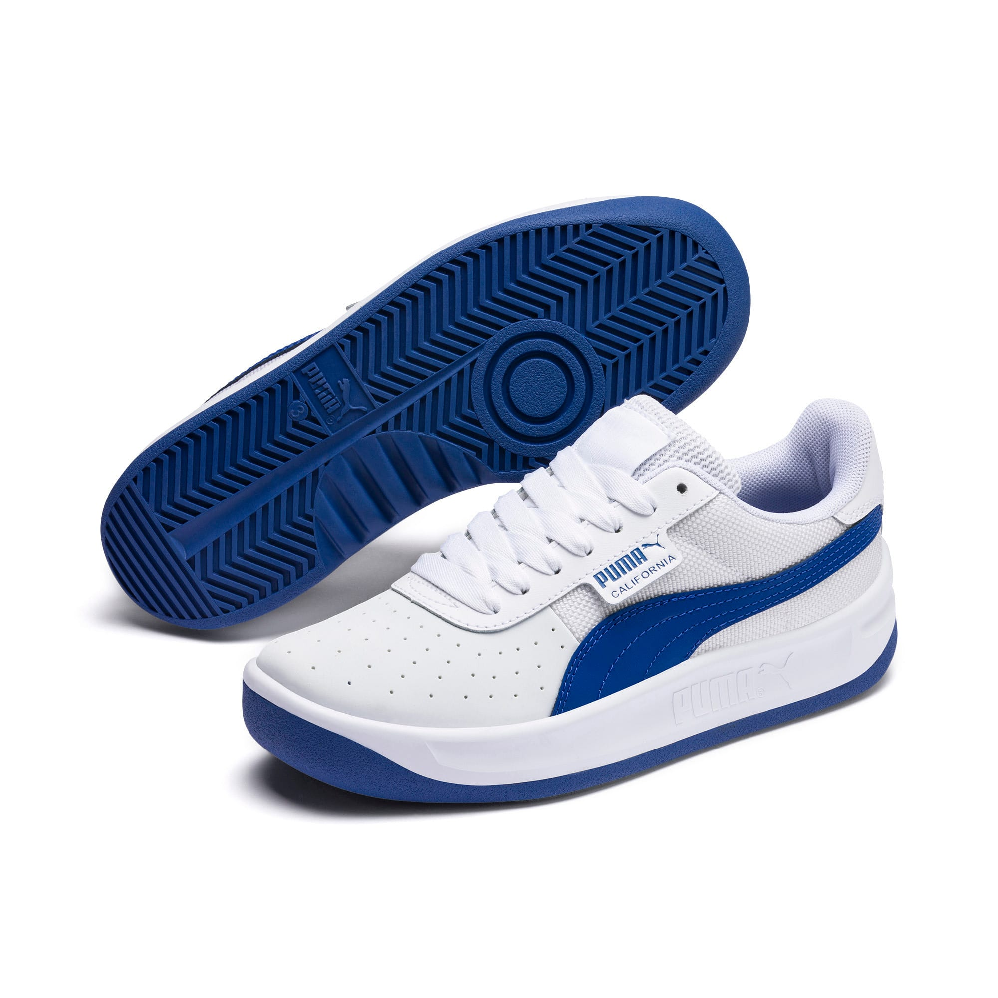 Thumbnail 2 of California Sneakers JR, Puma White-Galaxy Blue, medium
