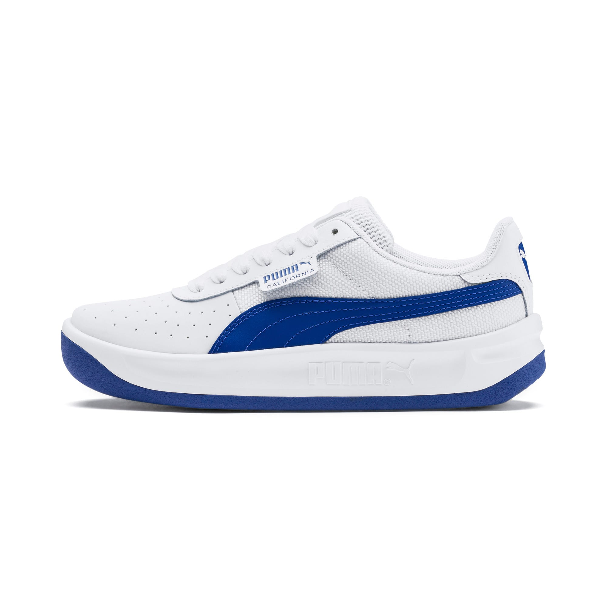 Thumbnail 1 of California Sneakers JR, Puma White-Galaxy Blue, medium