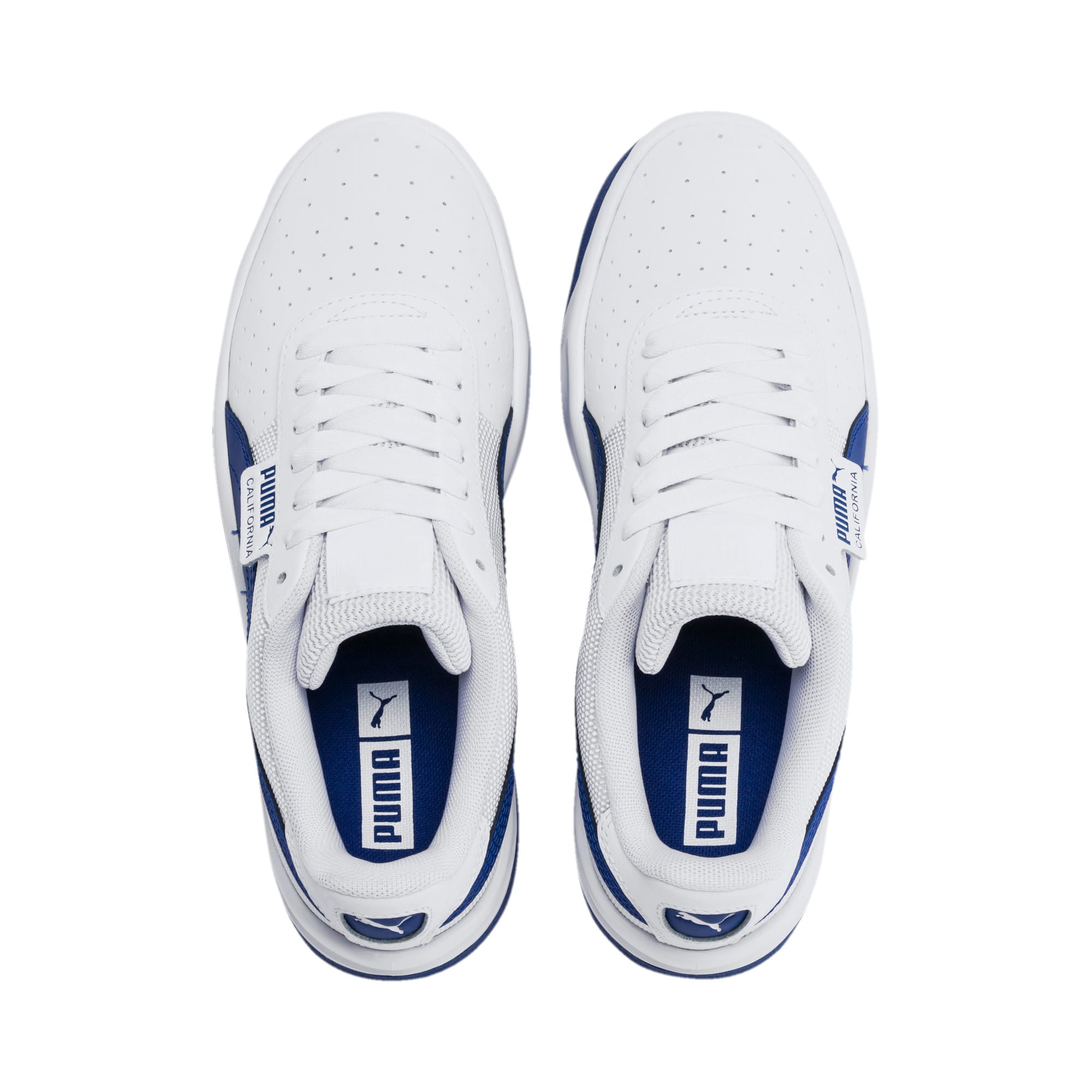 Thumbnail 6 of California Sneakers JR, Puma White-Galaxy Blue, medium