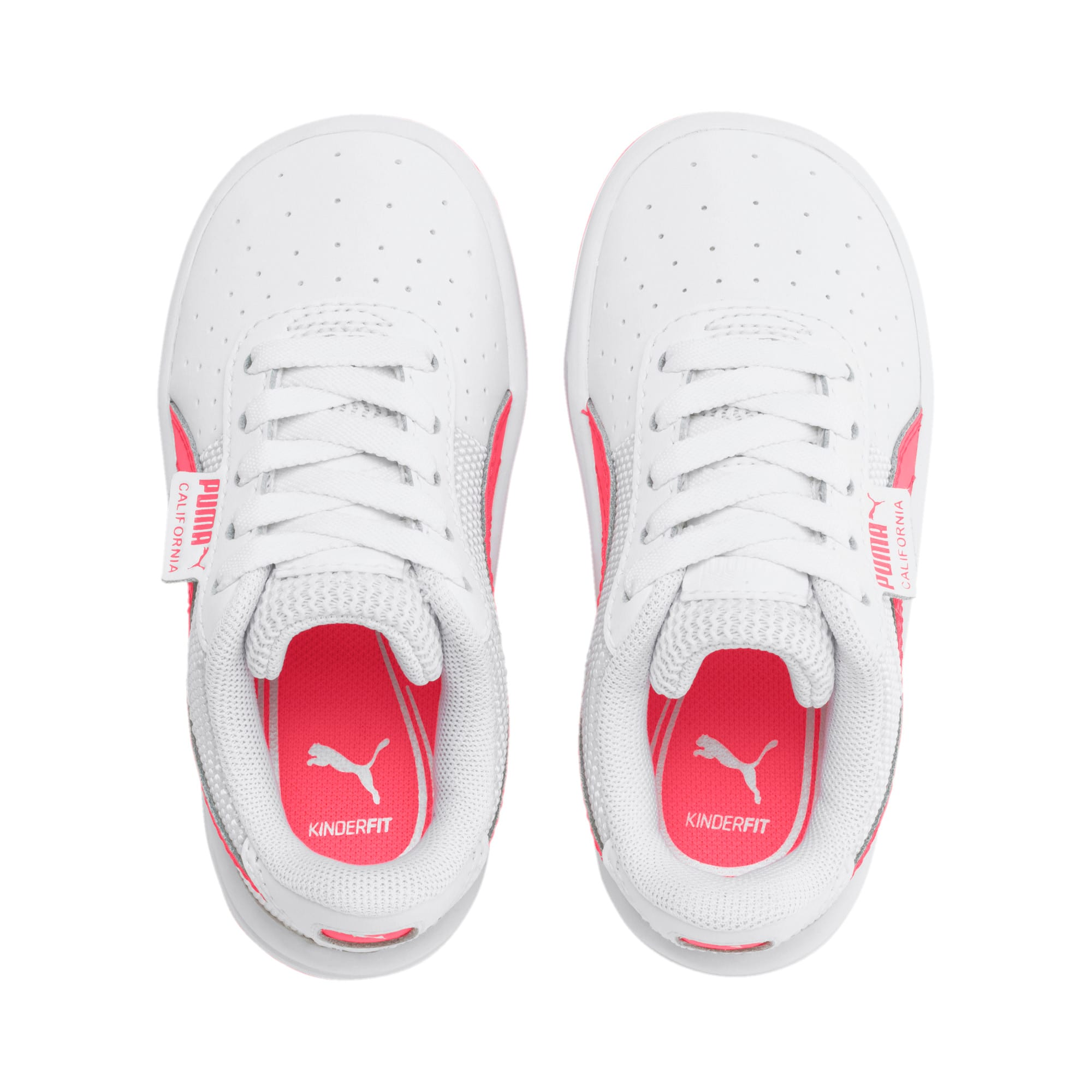 Thumbnail 6 of California Toddler Shoes, Puma White-Pink Alert, medium