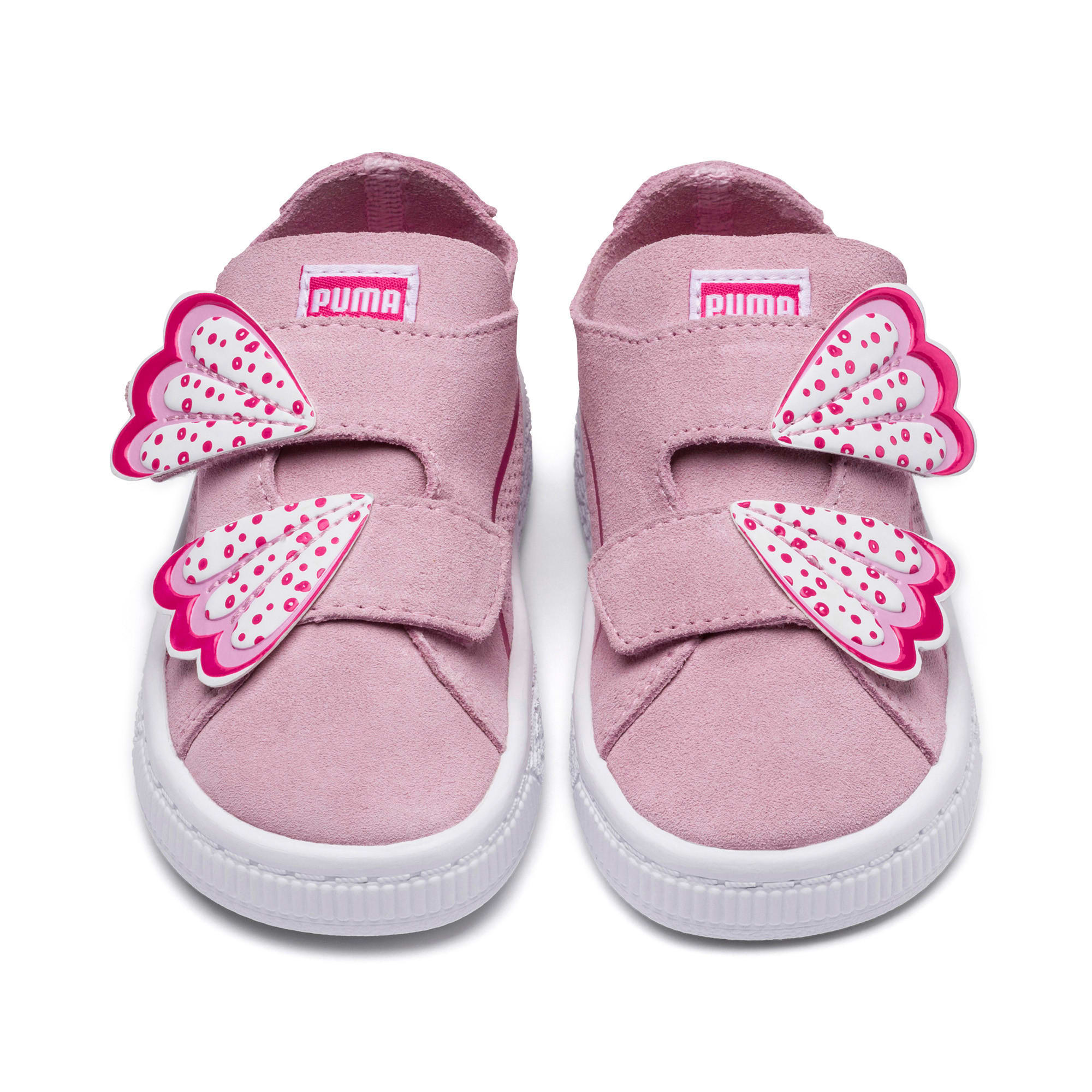 Thumbnail 3 of Suede Deconstruct Butterfly Toddler Shoes, Pale Pink-Fuchsia Purple, medium