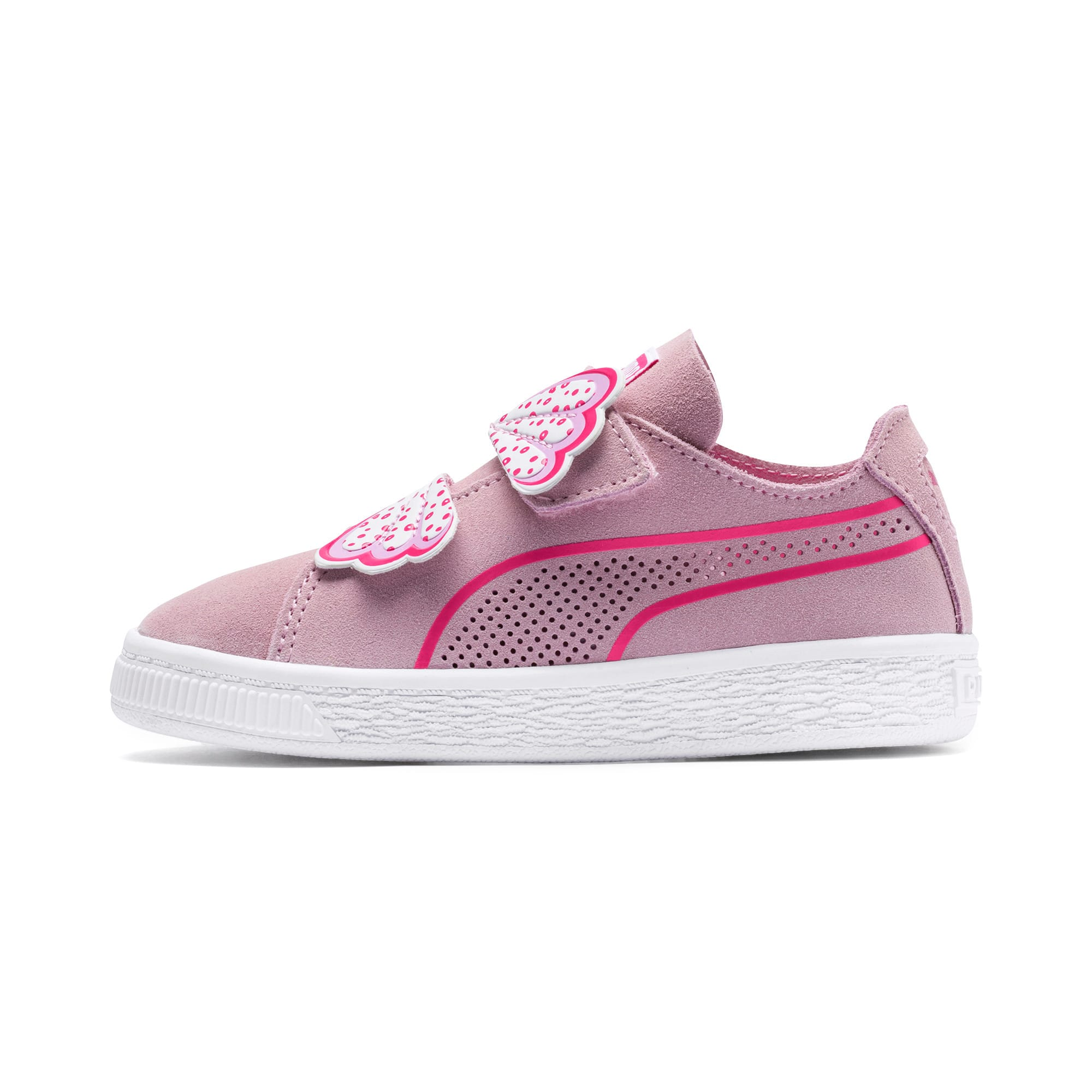 Thumbnail 1 of Suede Deconstruct Butterfly Toddler Shoes, Pale Pink-Fuchsia Purple, medium