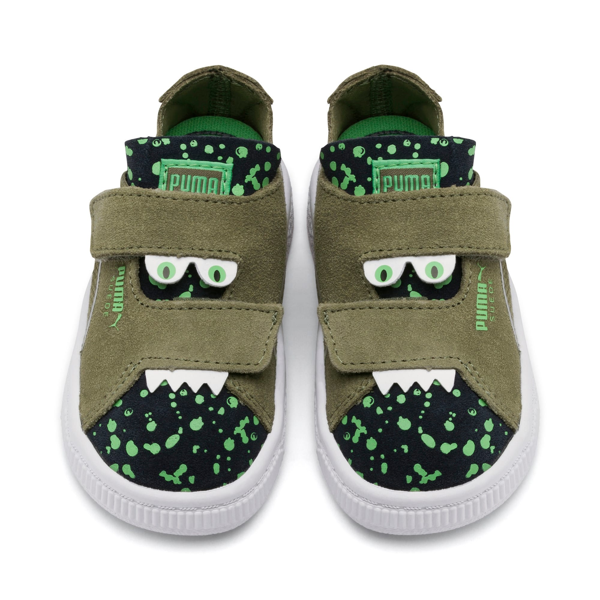 Thumbnail 6 of Suede Deconstruct Monster Toddler Shoes, Olivine-Peacoat-Irish Green, medium