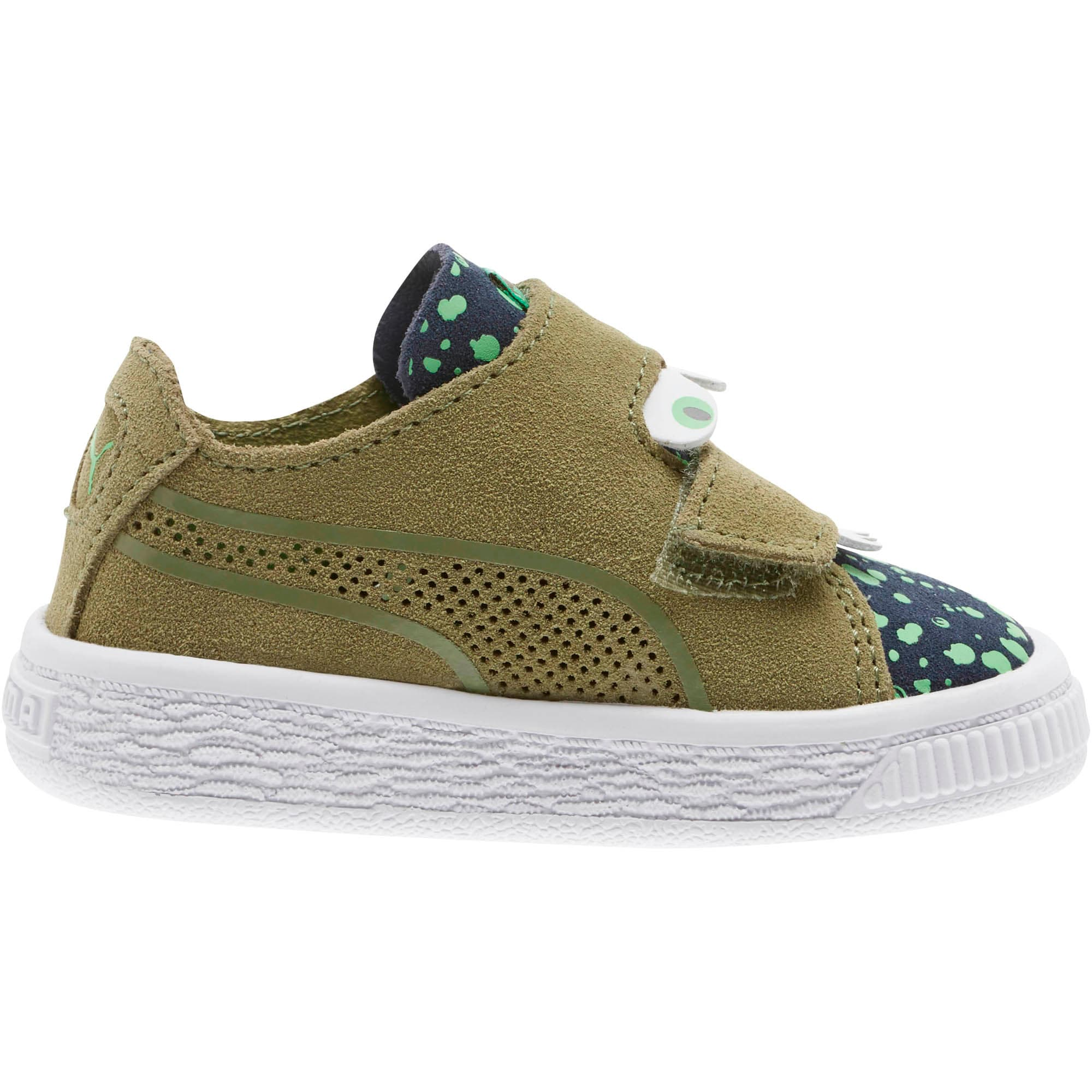 Thumbnail 4 of Suede Deconstruct Monster Toddler Shoes, Olivine-Peacoat-Irish Green, medium