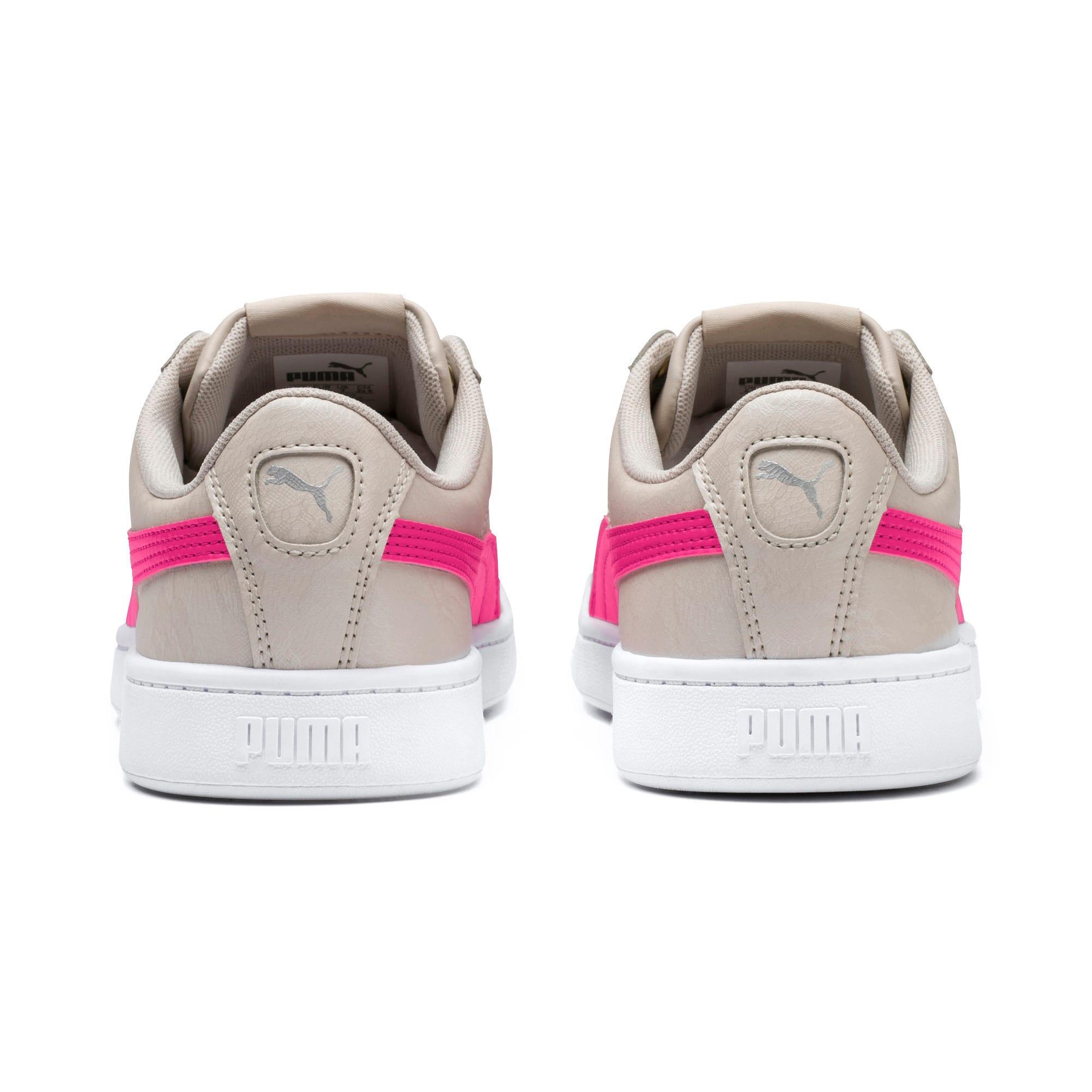 Thumbnail 4 of PUMA Vikky v2 Summer Women's Sneakers, Silver Gray-F Purple-Silver, medium