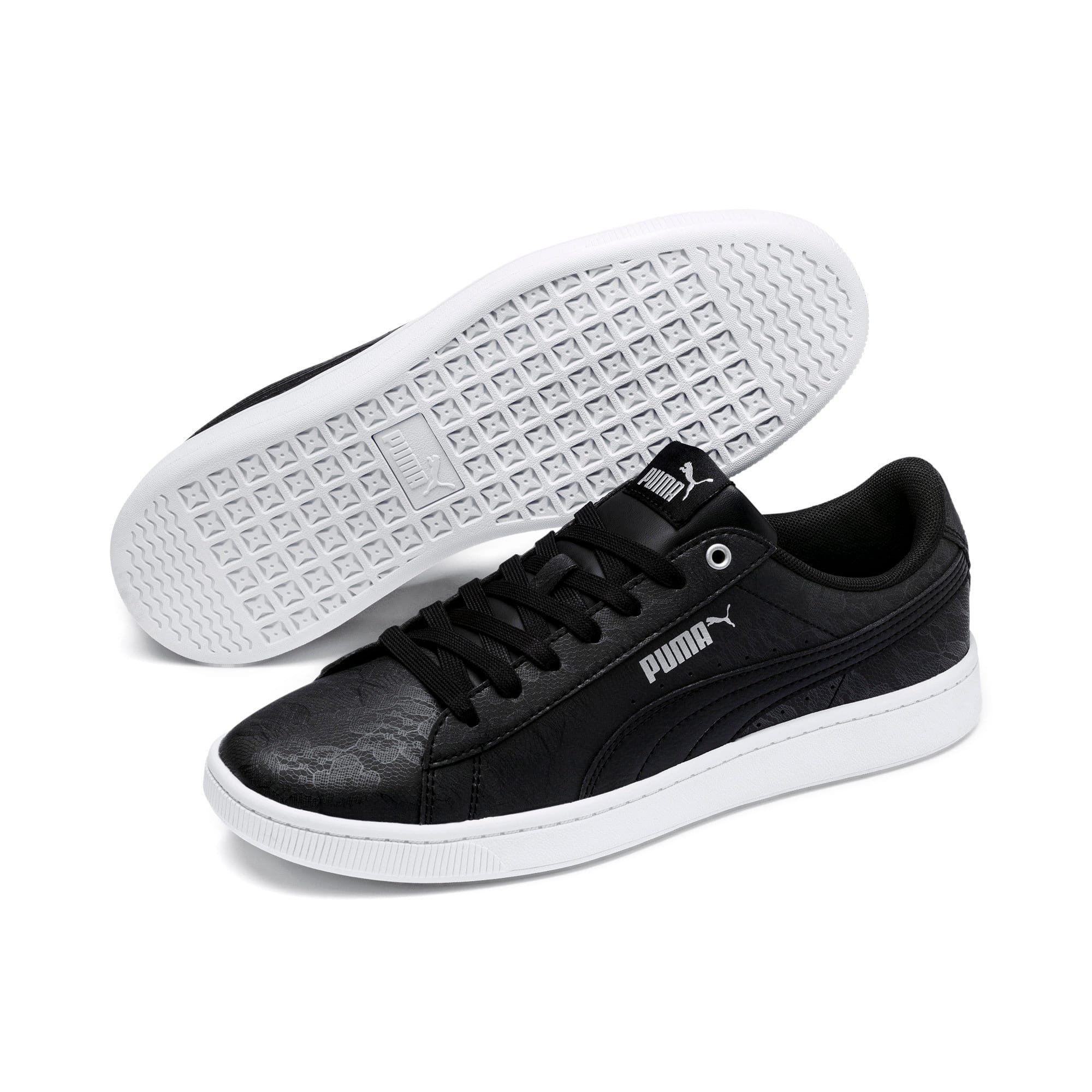 Thumbnail 2 of PUMA Vikky v2 Summer Women's Sneakers, Puma Black-Silver-Puma White, medium