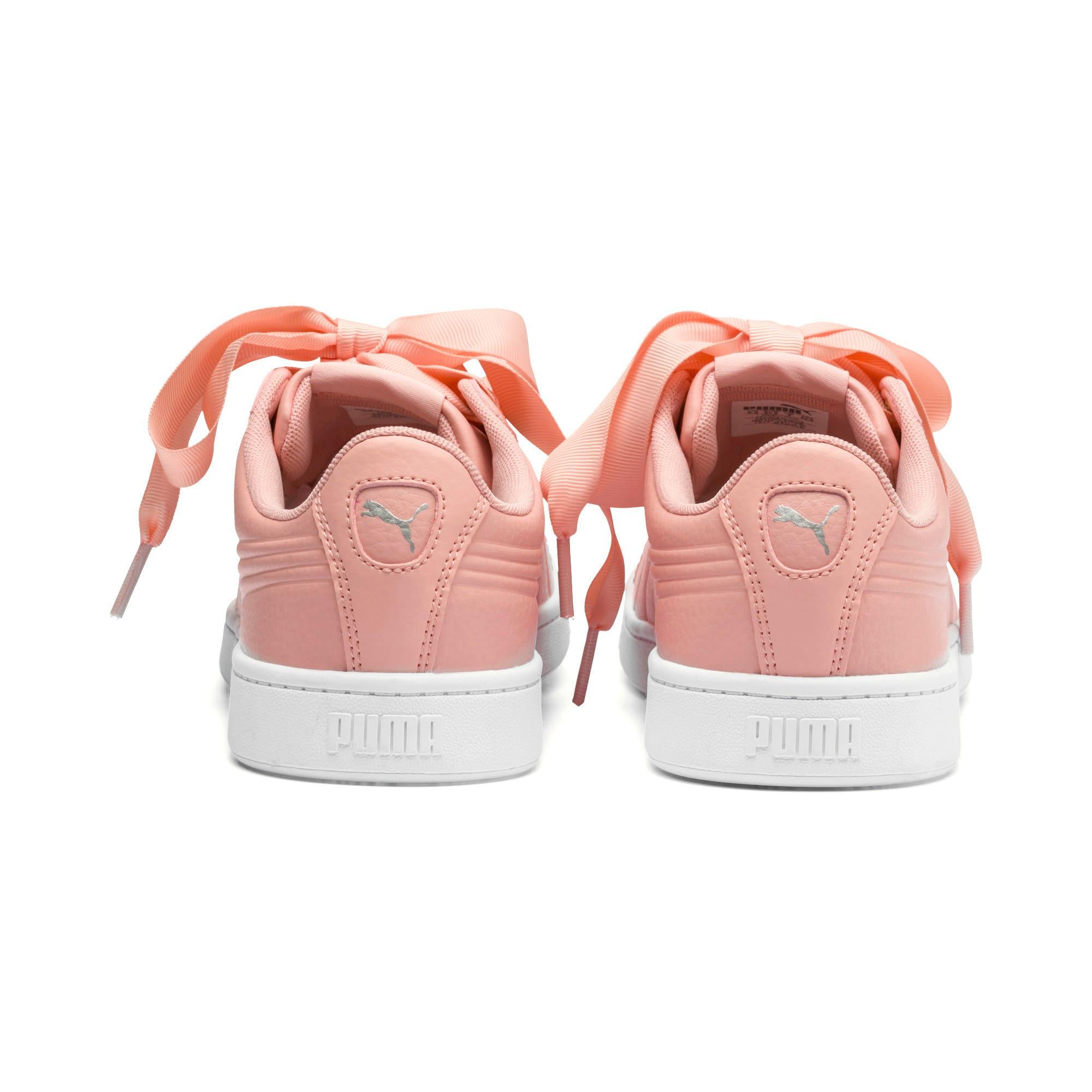 Thumbnail 3 of Vikky v2 Ribbon Core Damen Sneaker, Peach Bud-Puma Silver-White, medium