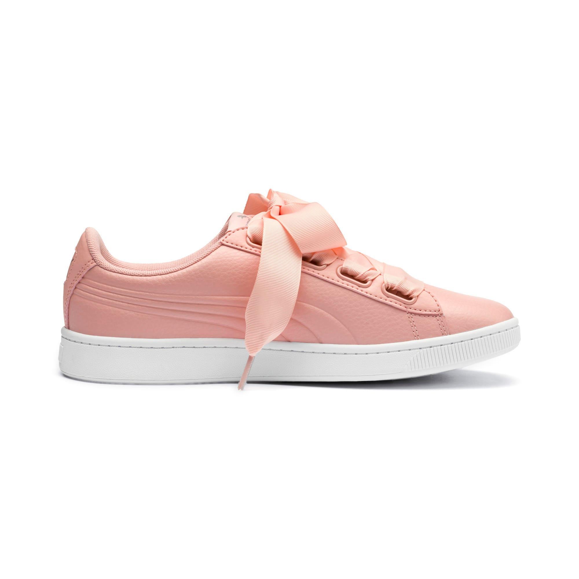 Thumbnail 5 of Vikky v2 Ribbon Core Damen Sneaker, Peach Bud-Puma Silver-White, medium