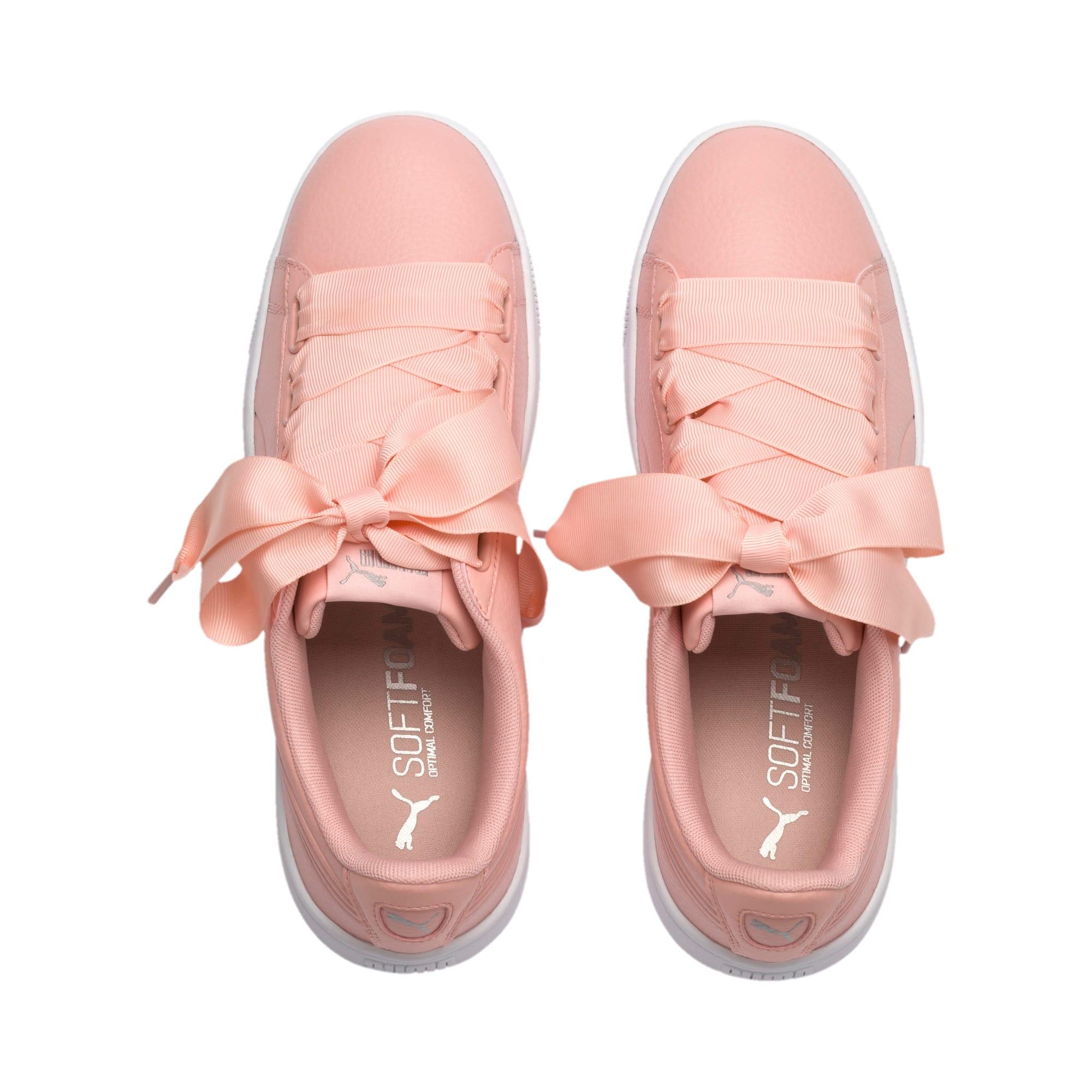 Thumbnail 6 of Vikky v2 Ribbon Core Damen Sneaker, Peach Bud-Puma Silver-White, medium