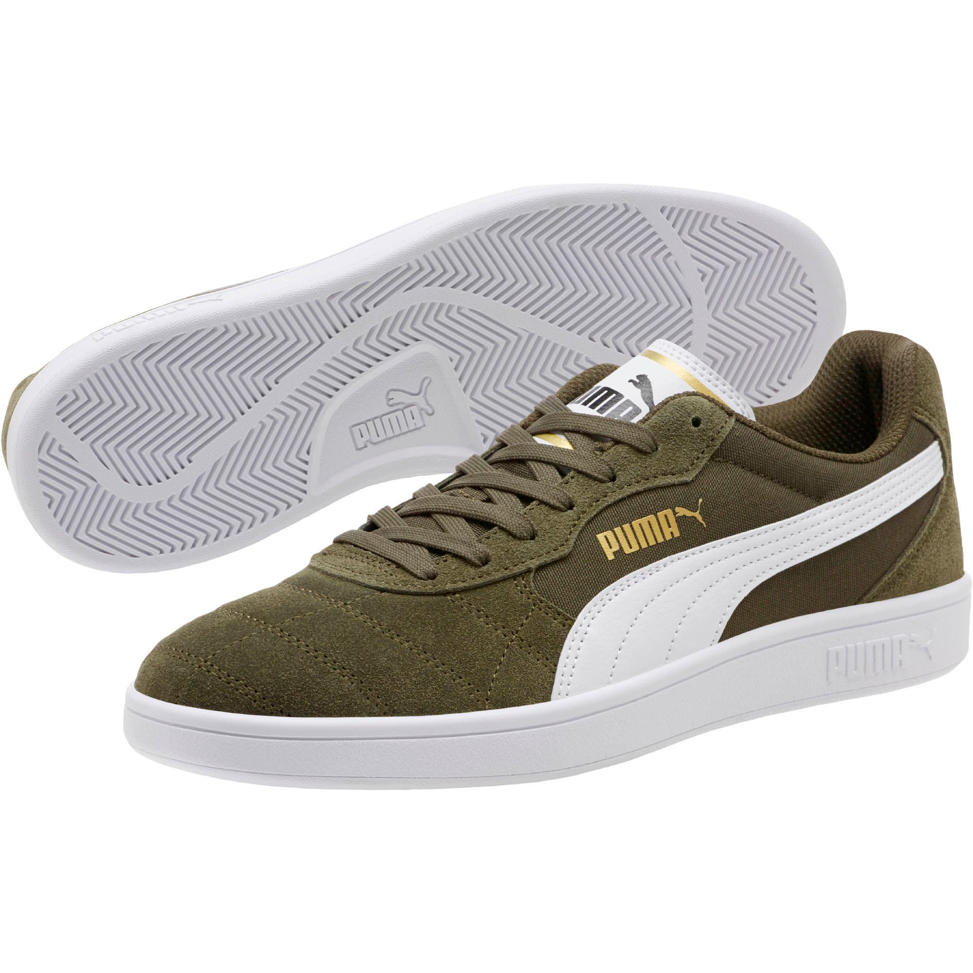 Thumbnail 2 of Astro Kick Sneakers, Forest Night-White-Gold, medium