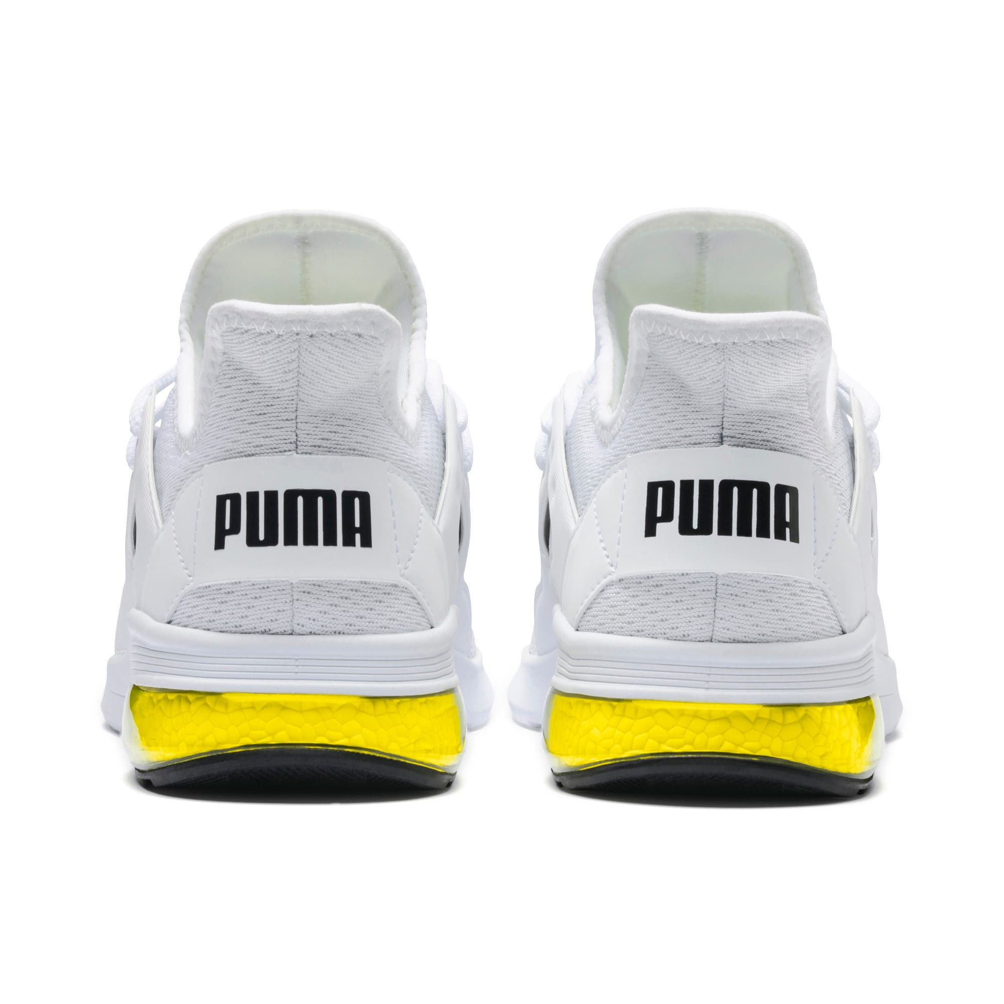Thumbnail 4 of Electron Street Eng Mesh, Puma White-Puma Black-Yellow, medium