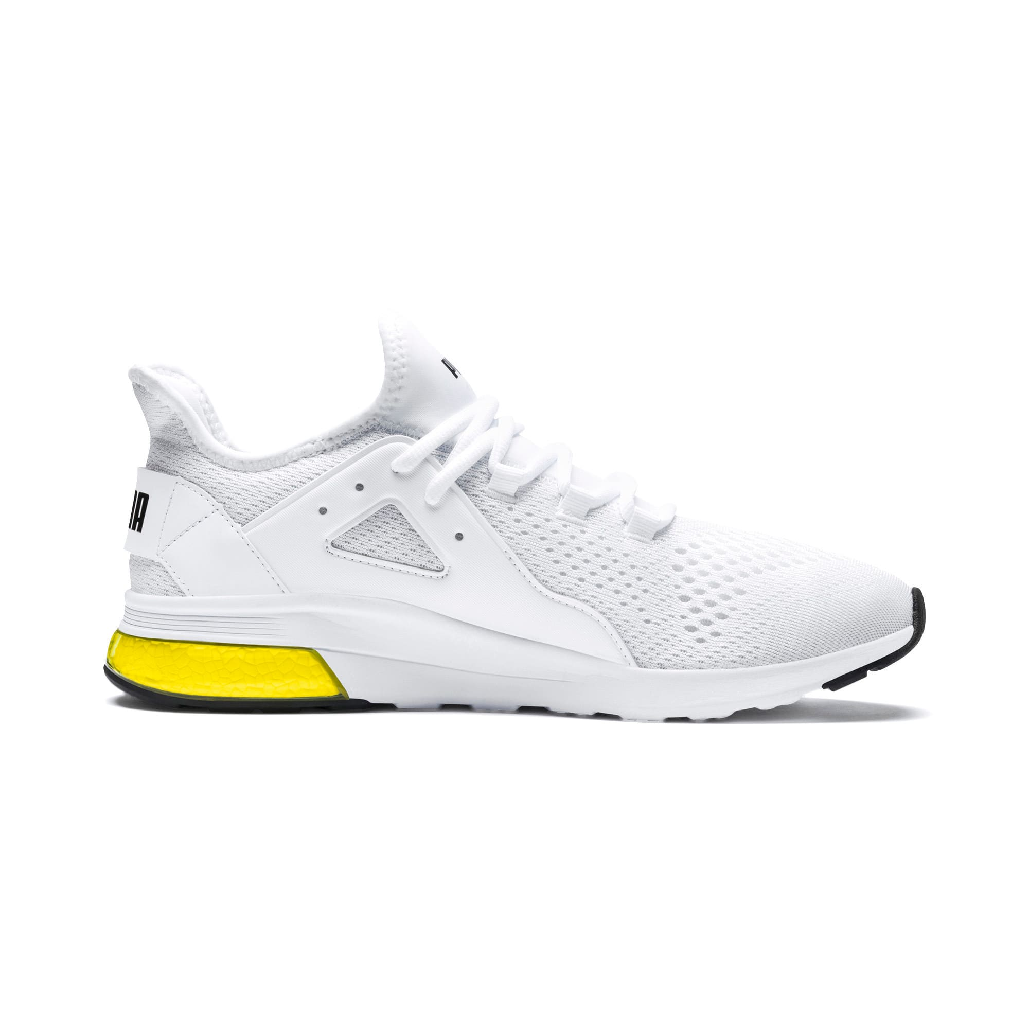 Thumbnail 5 of Electron Street Eng Mesh, Puma White-Puma Black-Yellow, medium