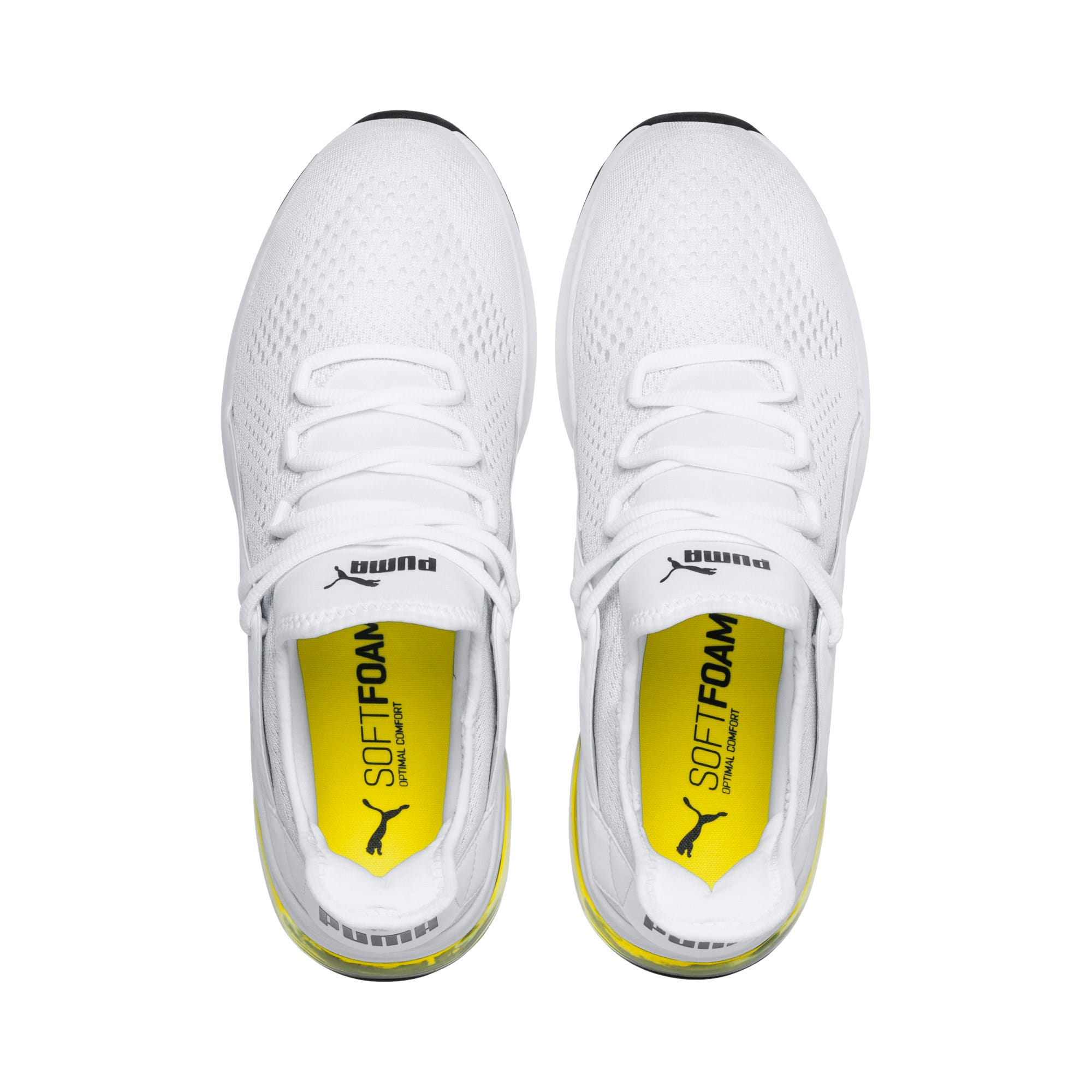 Thumbnail 6 of Electron Street Eng Mesh, Puma White-Puma Black-Yellow, medium