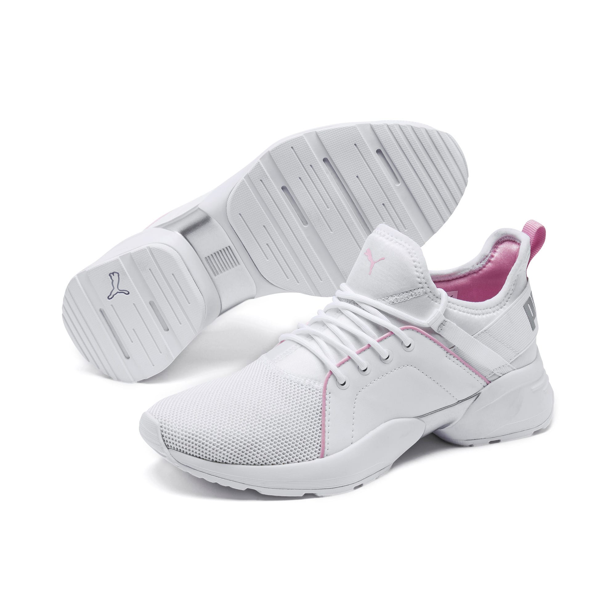Sirena Women's Training Shoes, Puma White-Pale Pink, large
