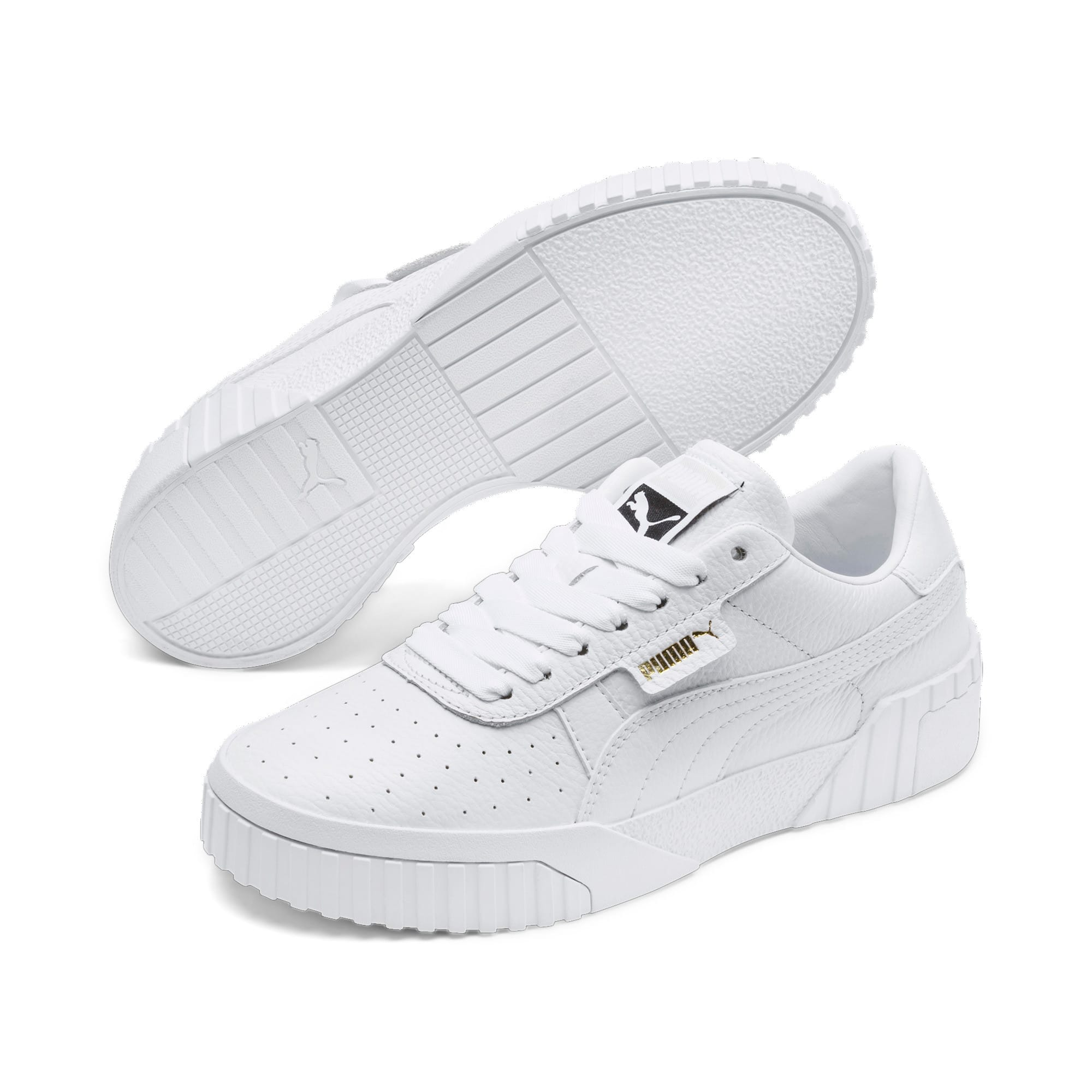 Thumbnail 3 of Cali Women's Sneakers, Puma White-Puma White, medium