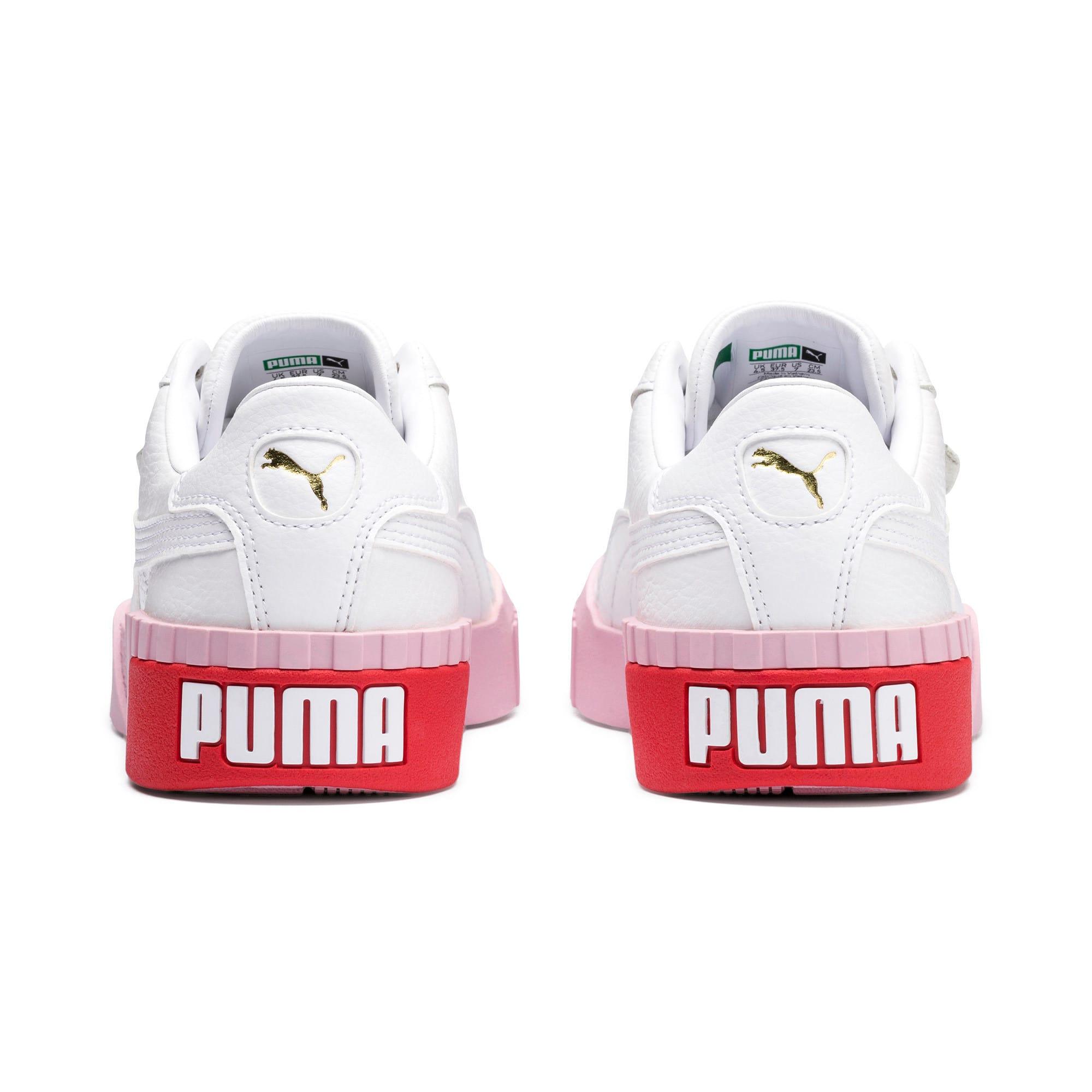 Thumbnail 4 of Basket Cali pour femme, Puma White-Pale Pink, medium