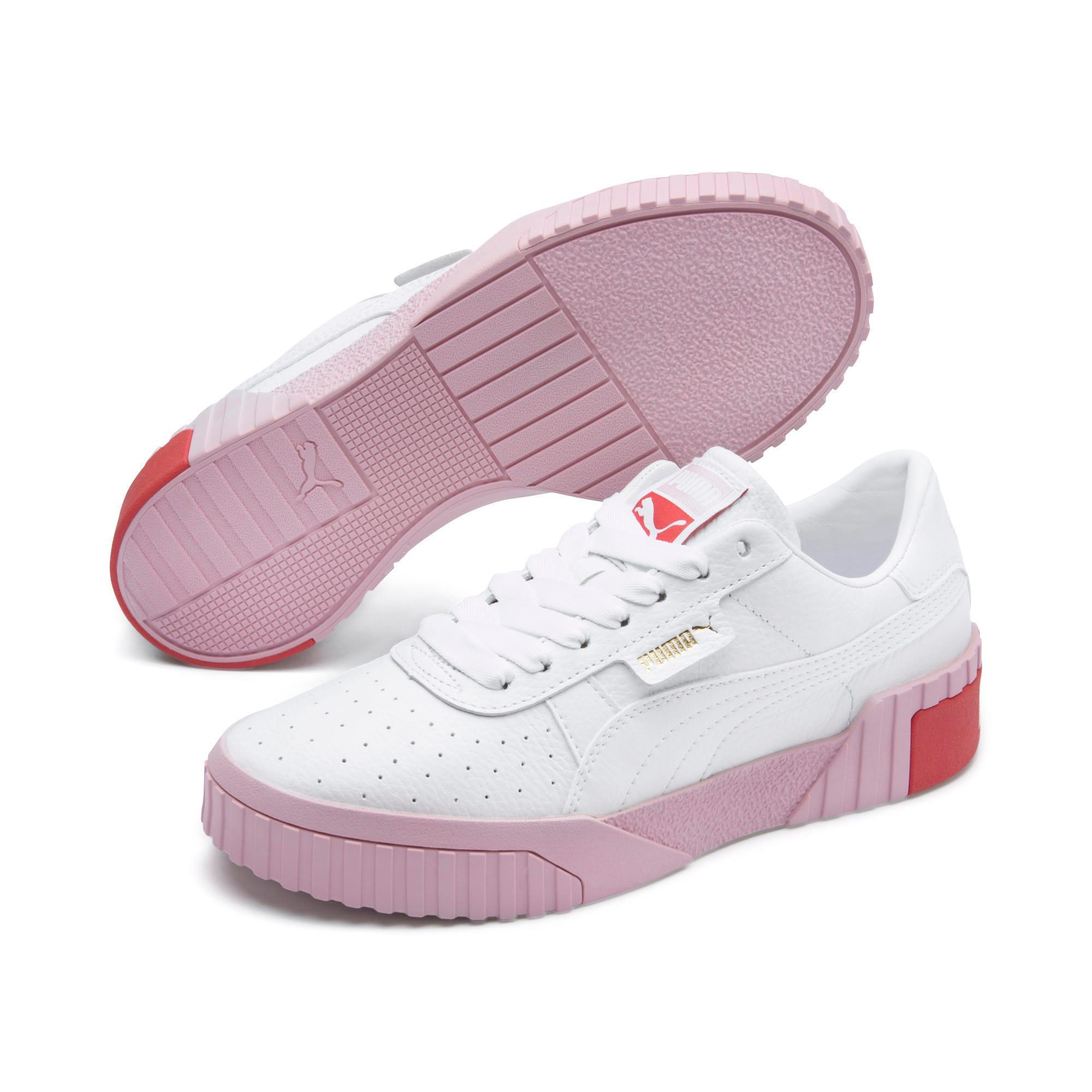 Thumbnail 3 of Basket Cali pour femme, Puma White-Pale Pink, medium
