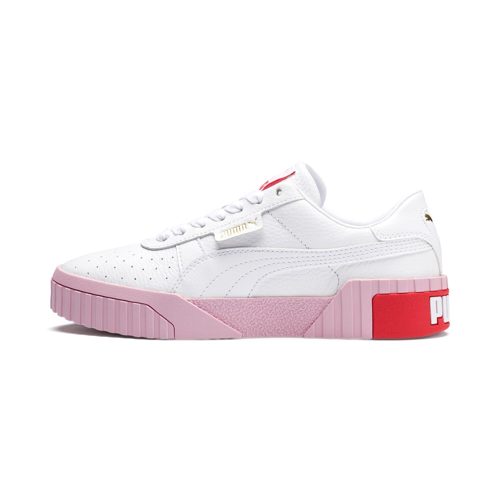 Thumbnail 1 of Basket Cali pour femme, Puma White-Pale Pink, medium