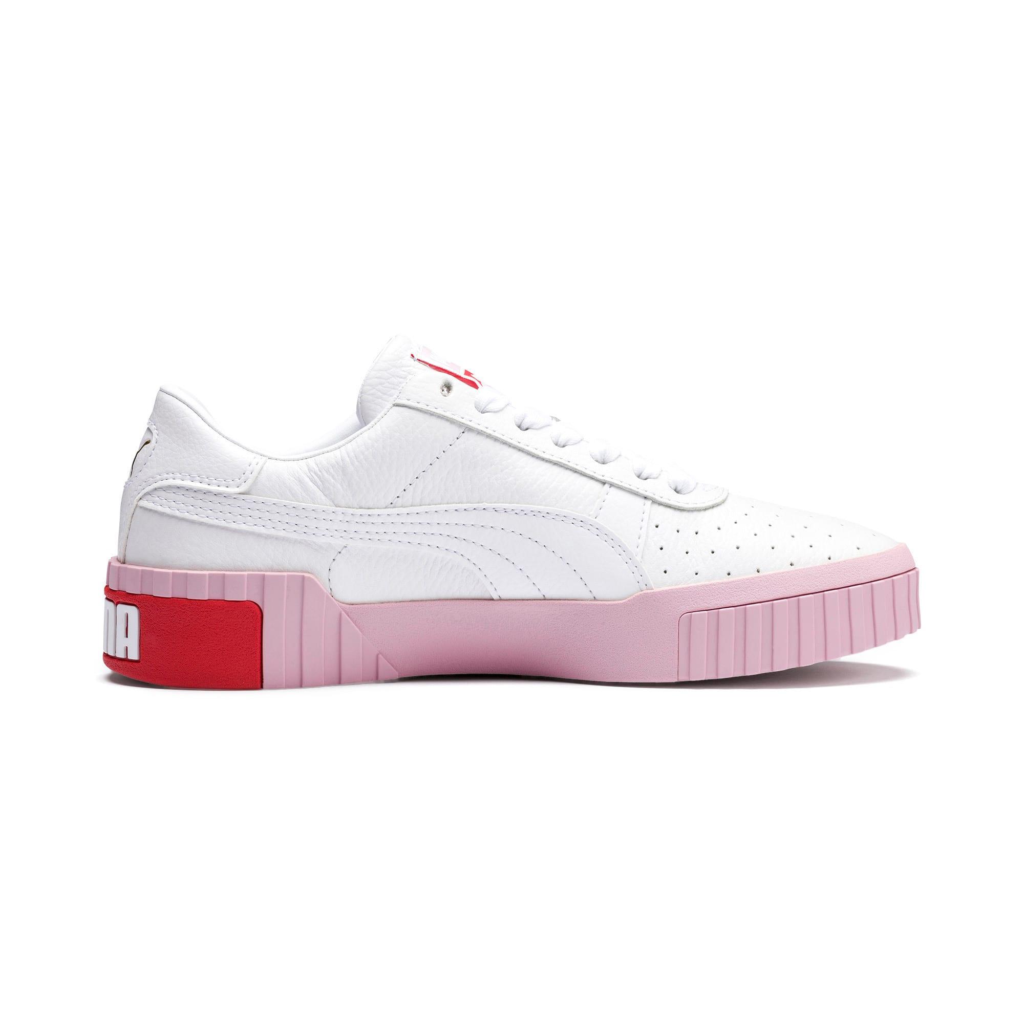 Thumbnail 6 of Basket Cali pour femme, Puma White-Pale Pink, medium