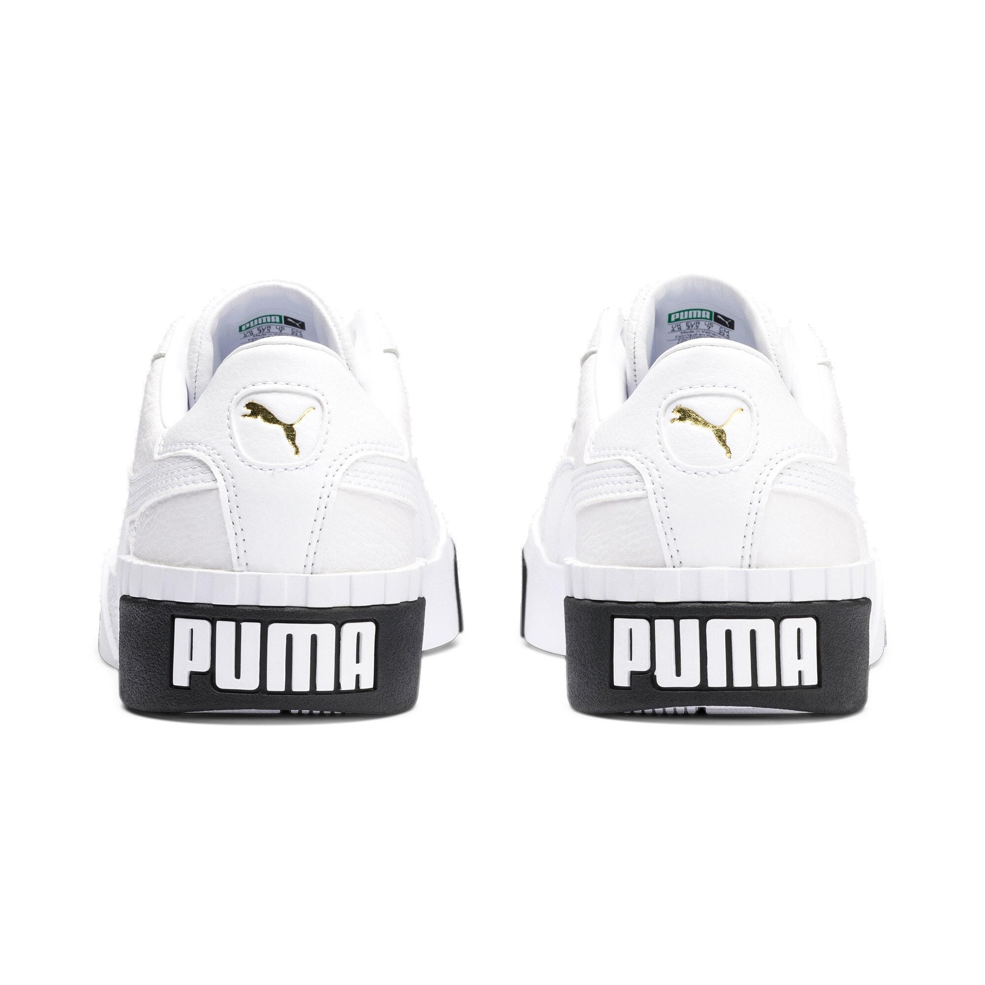 Anteprima 4 di Cali Women's Trainers, Puma White-Puma Black, medio