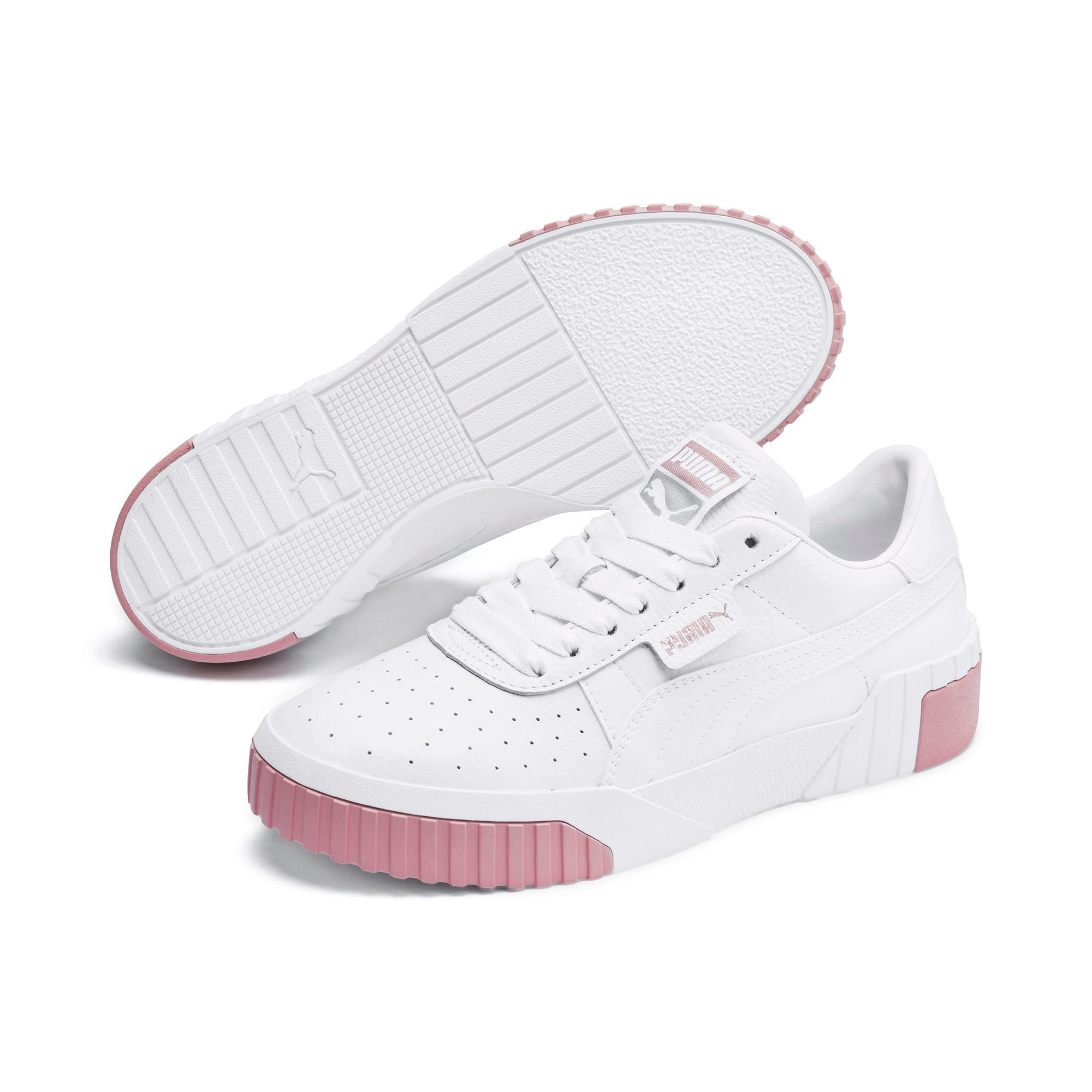 Thumbnail 3 of Cali Women's Trainers, Puma White-Rose Gold, medium