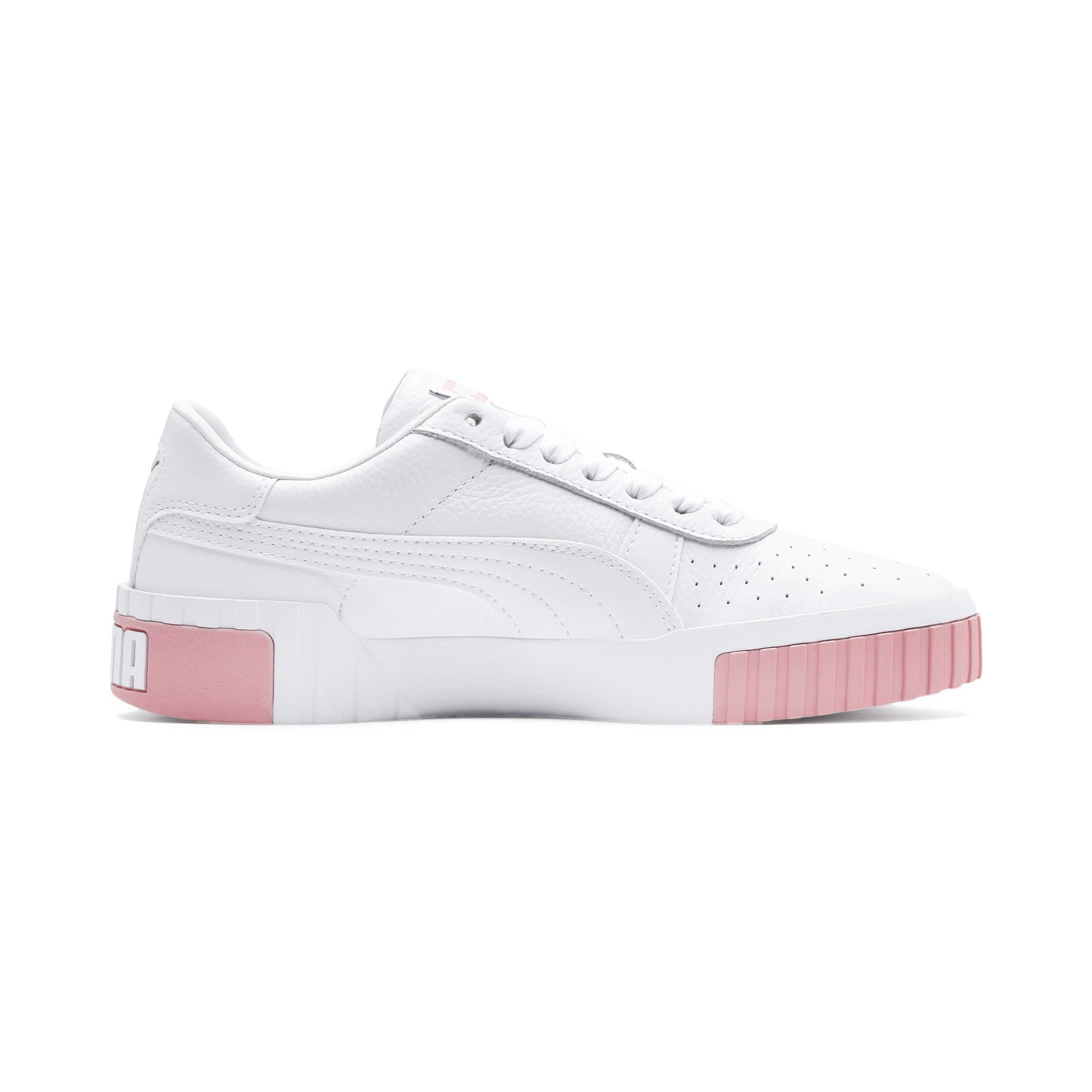 Thumbnail 6 of Cali Women's Trainers, Puma White-Rose Gold, medium